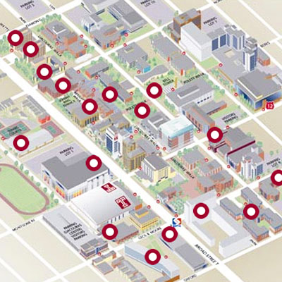 Virtual Tour Map of Temple University