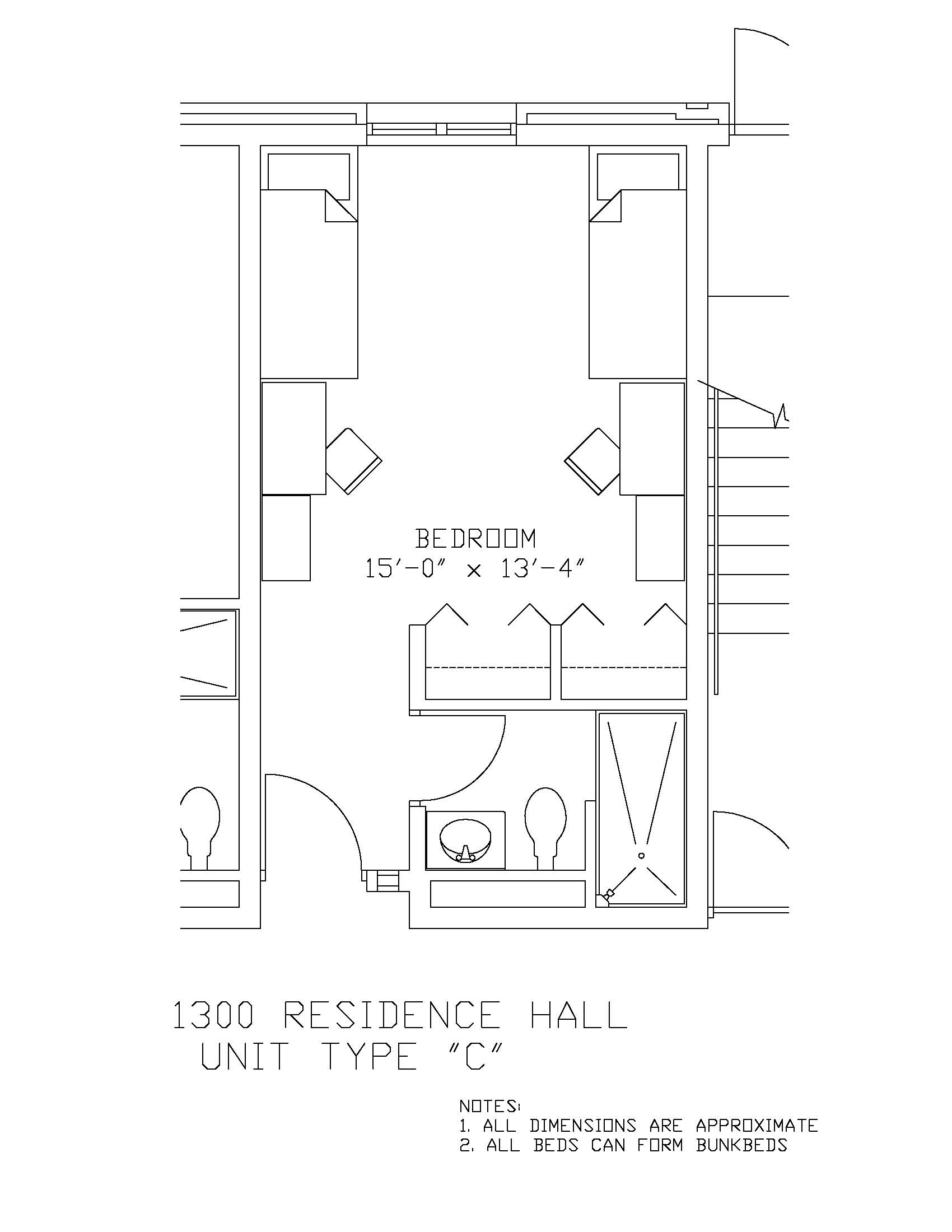 1300 Residence Hall: Type C