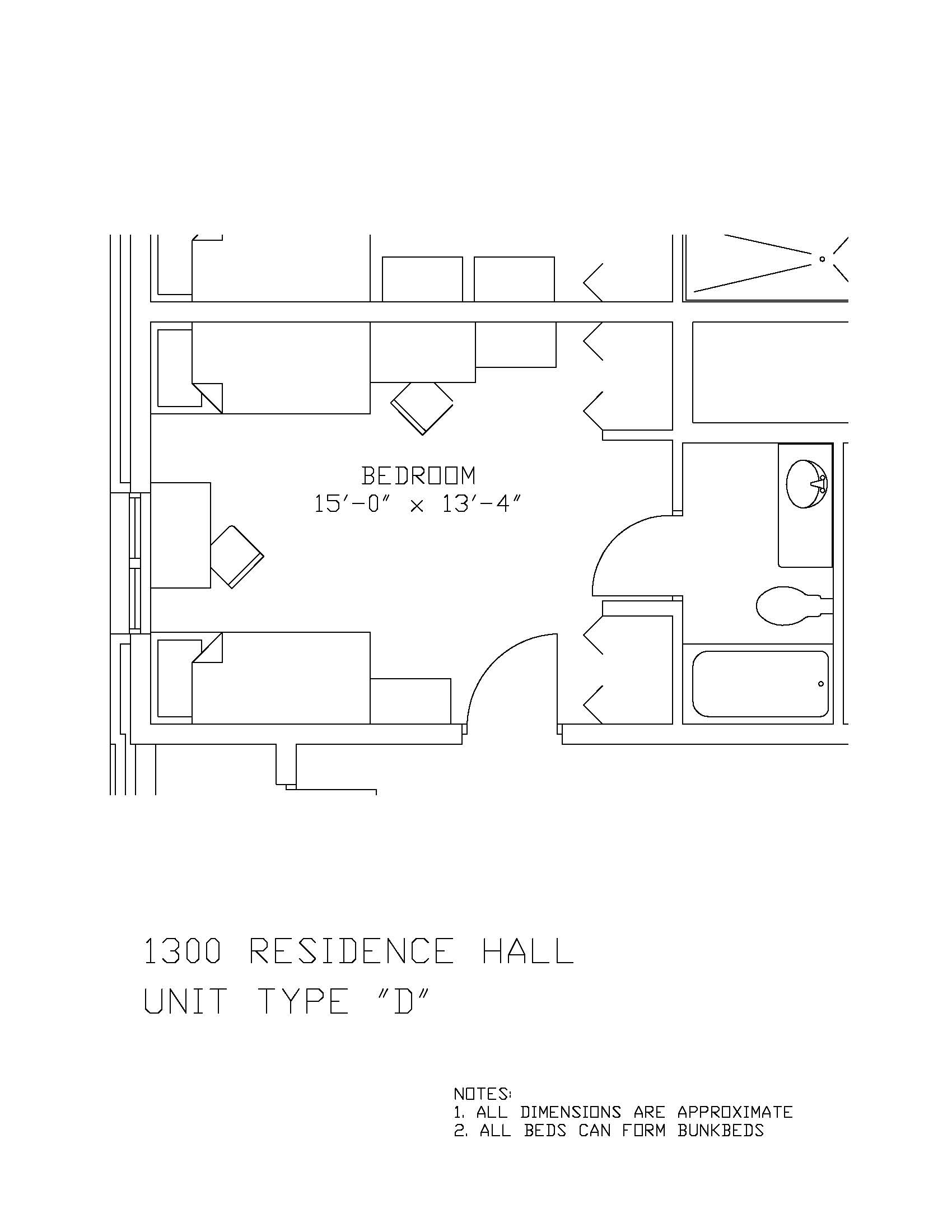 1300 Residence Hall: Type D