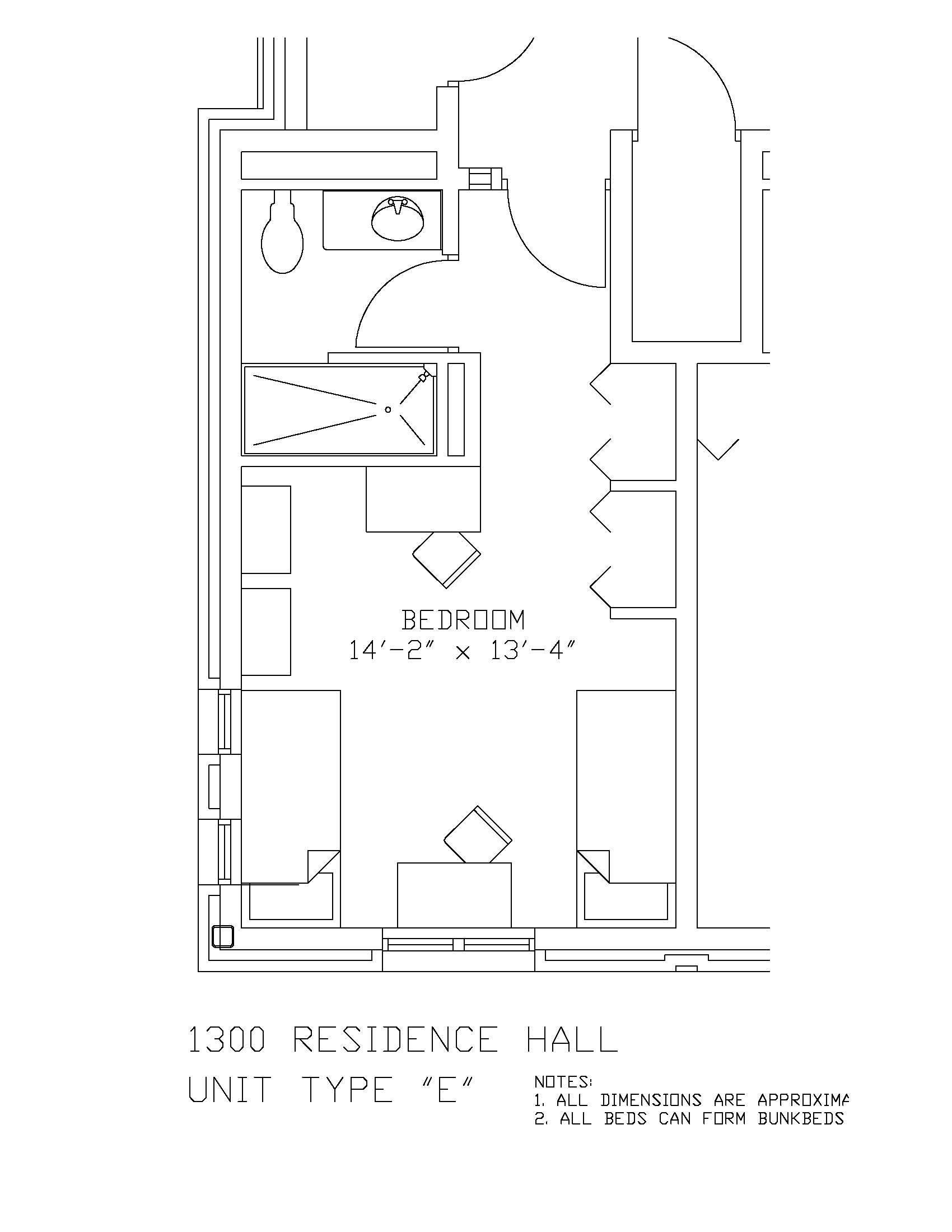 1300 Residence Hall: Type E