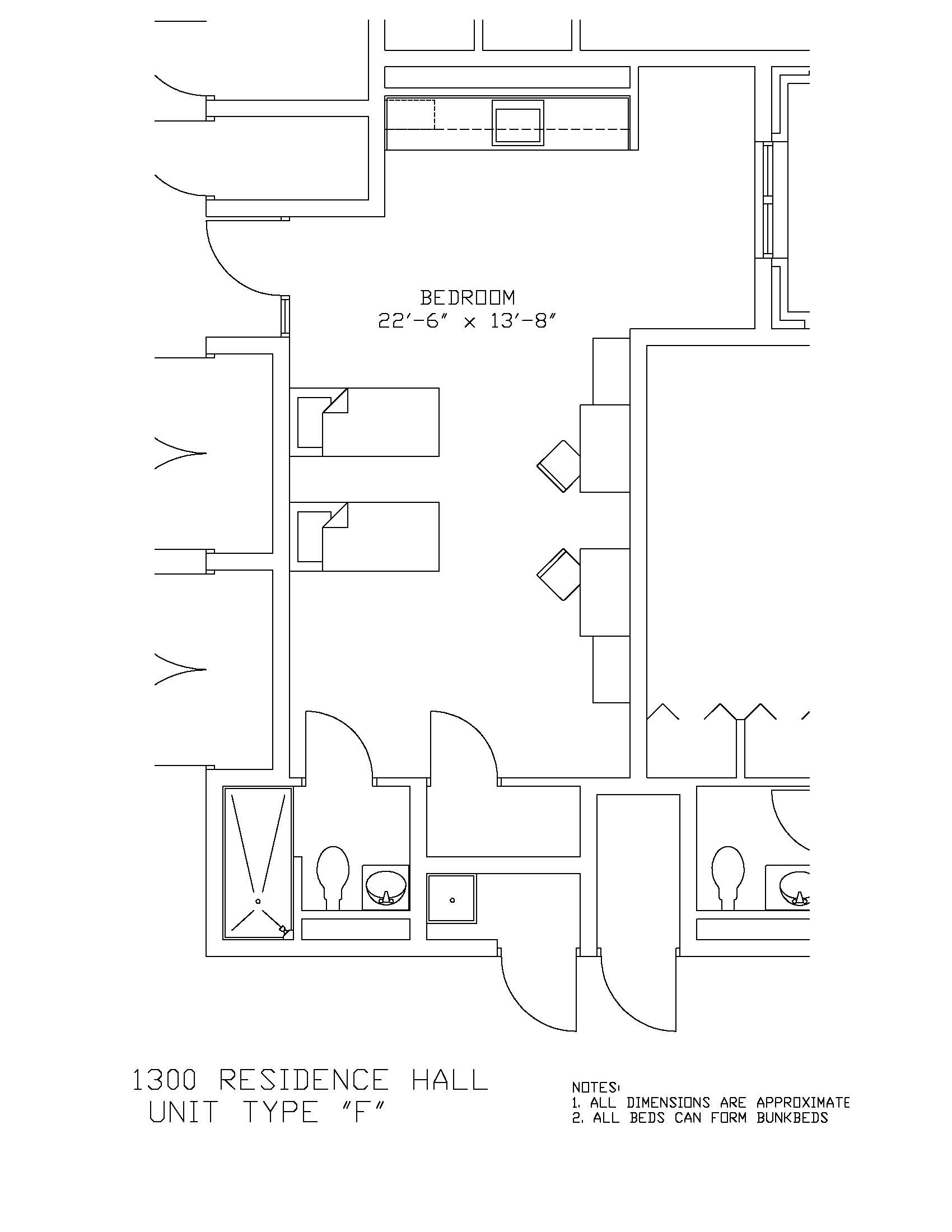 1300 Residence Hall: Type F