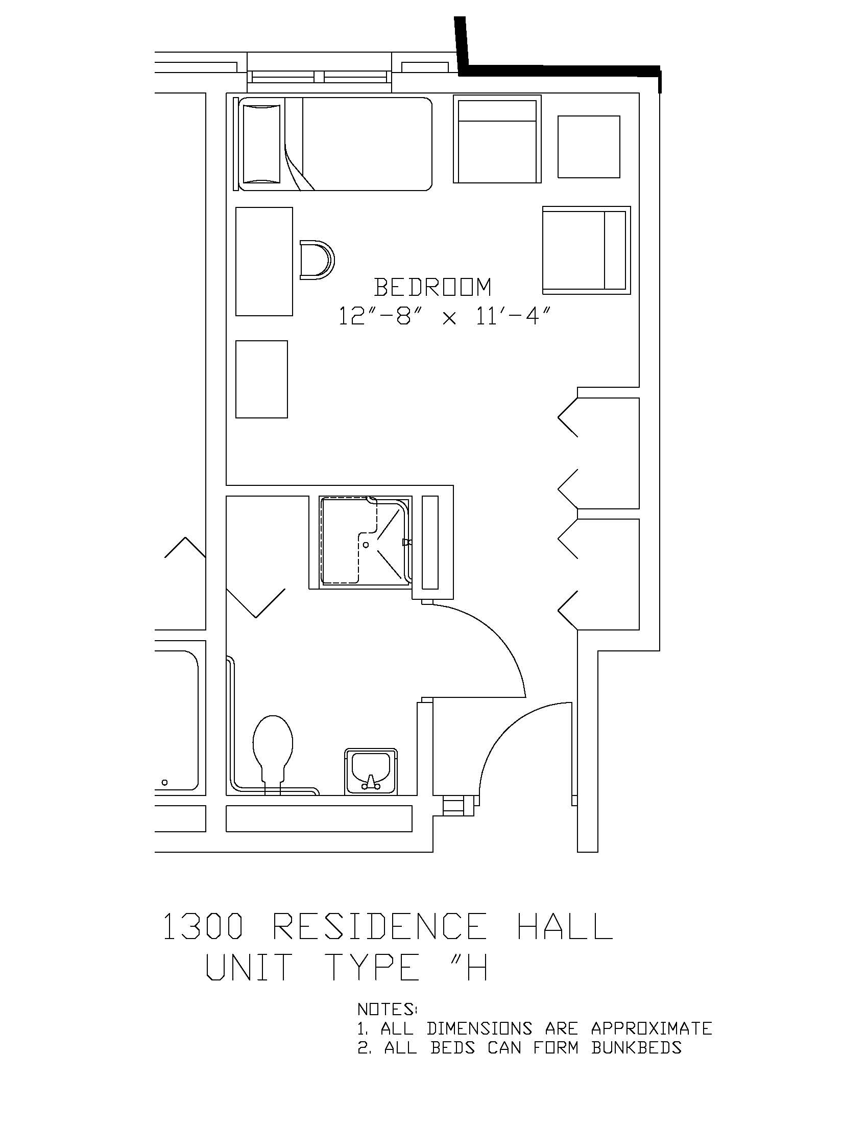 1300 Residence Hall: Type H