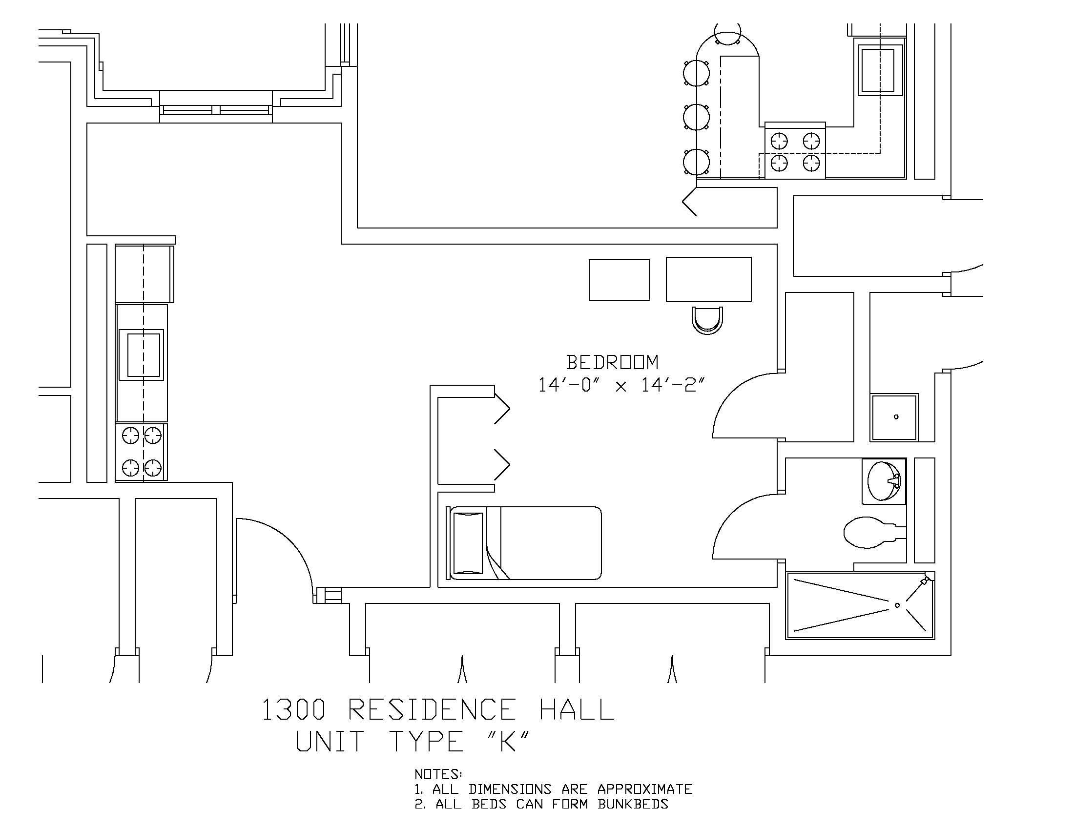1300 Residence Hall: Type K