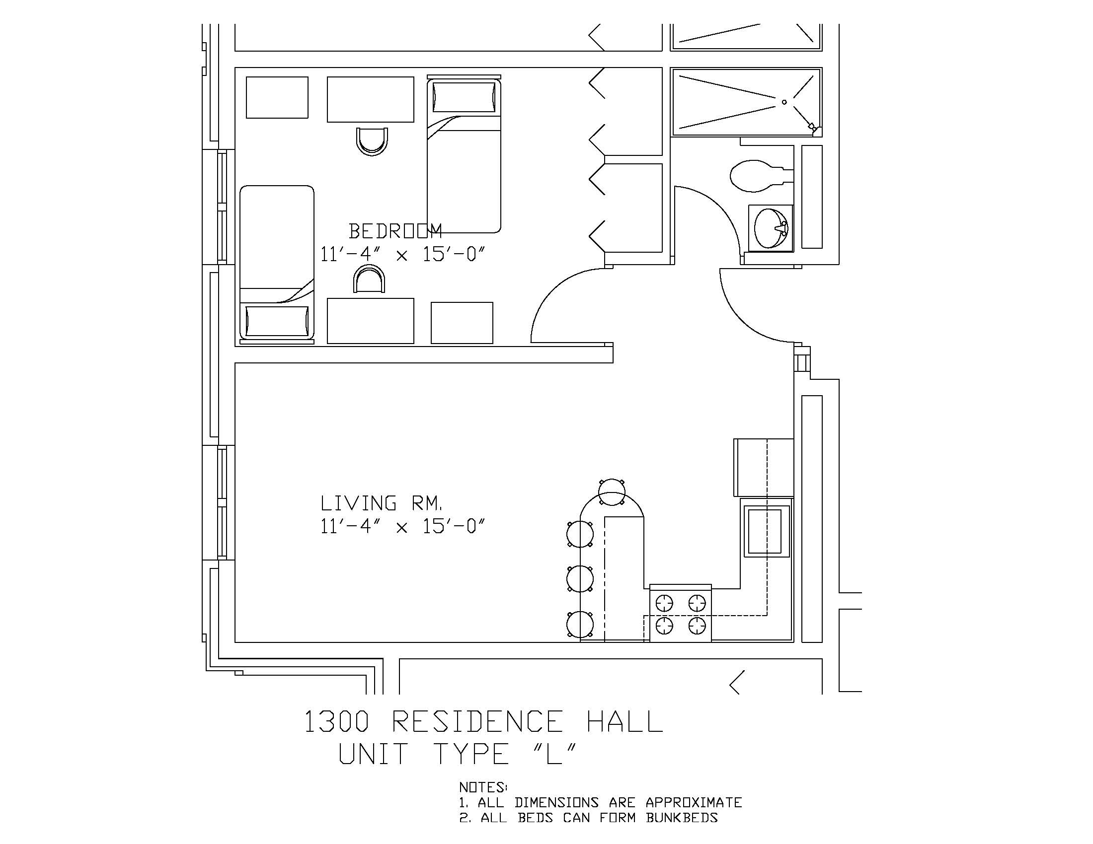 1300 Residence Hall: Type L
