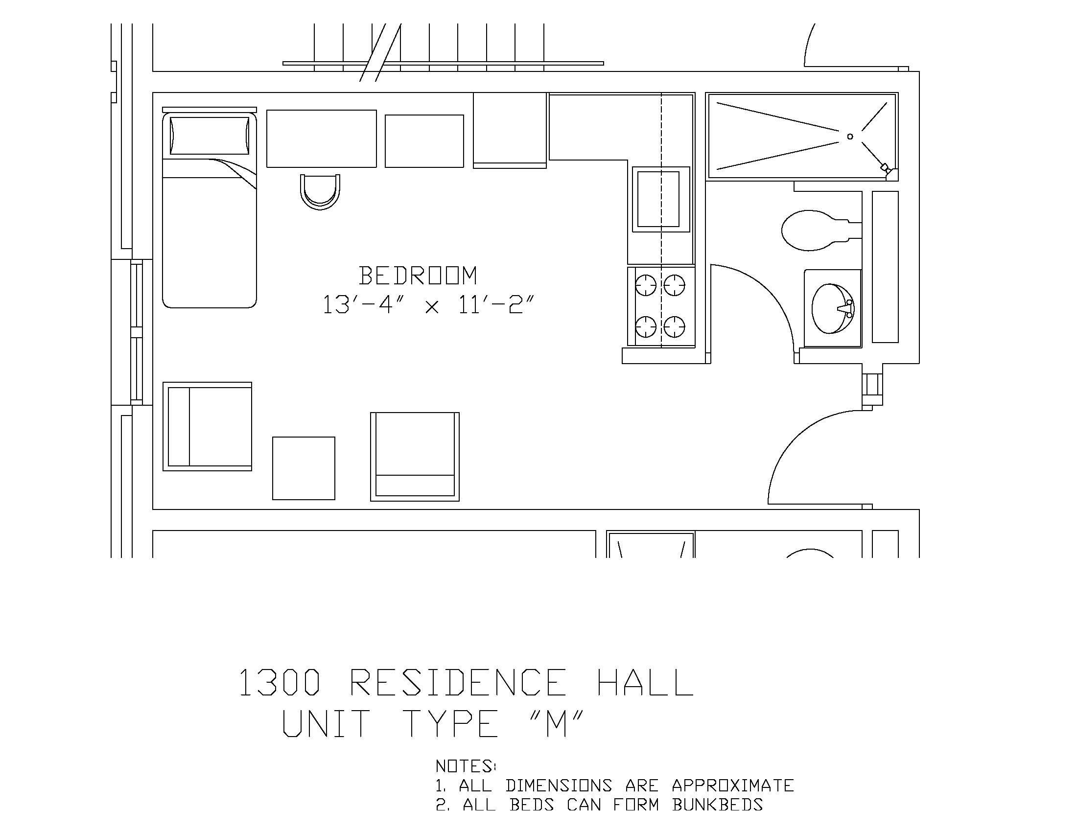 1300 Residence Hall: Type M