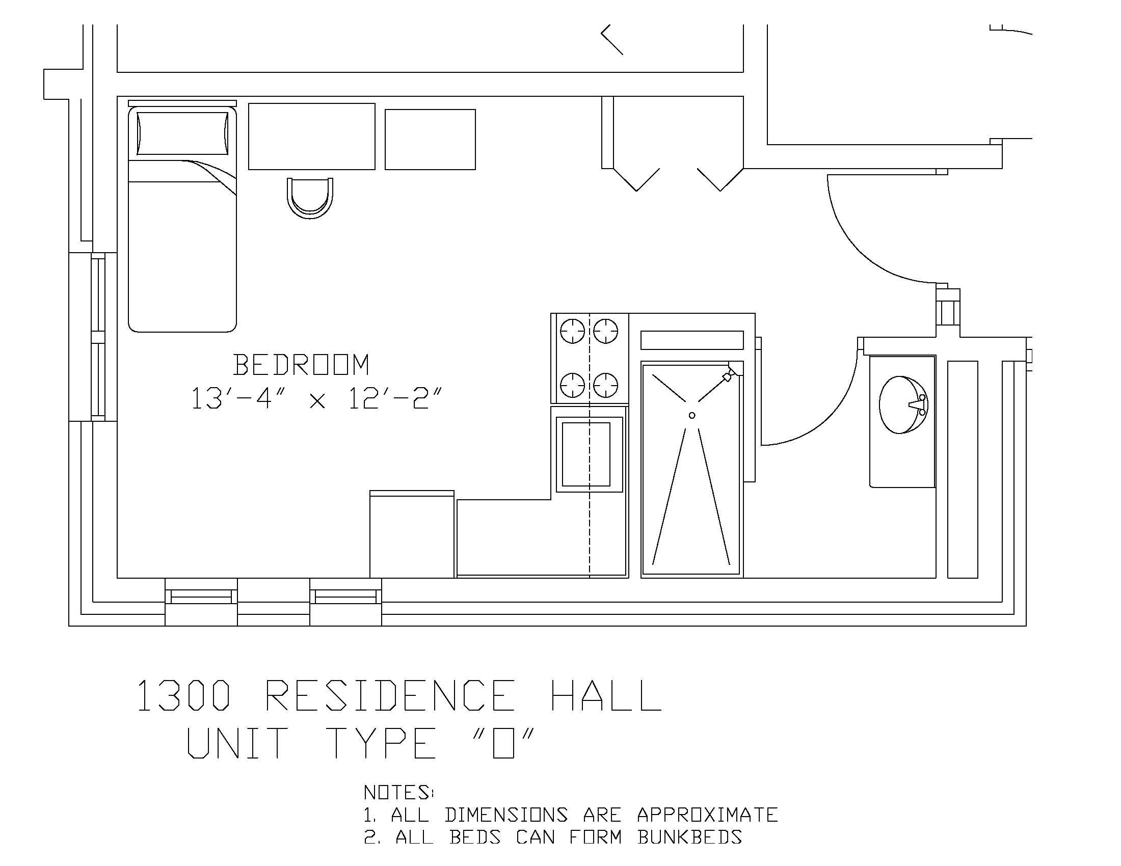 1300 Residence Hall: Type O