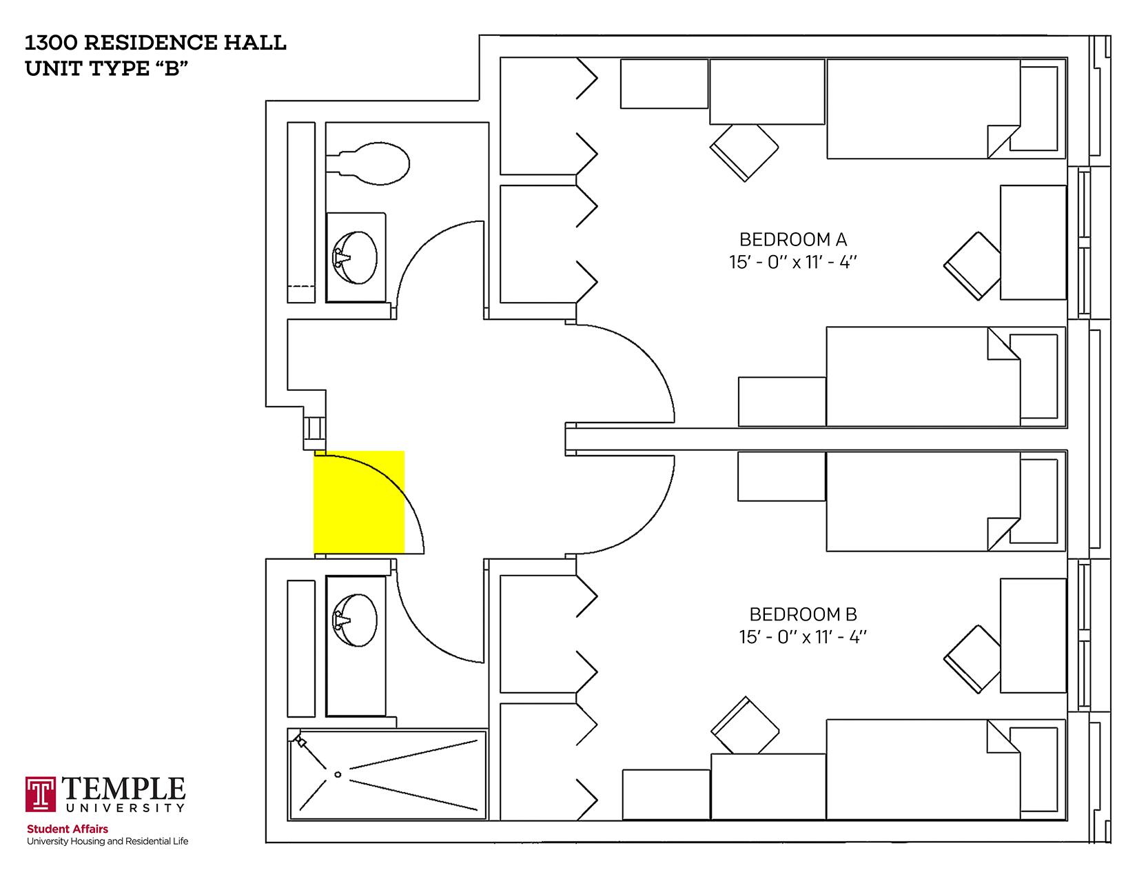 1300 Residence Hall: Unit B