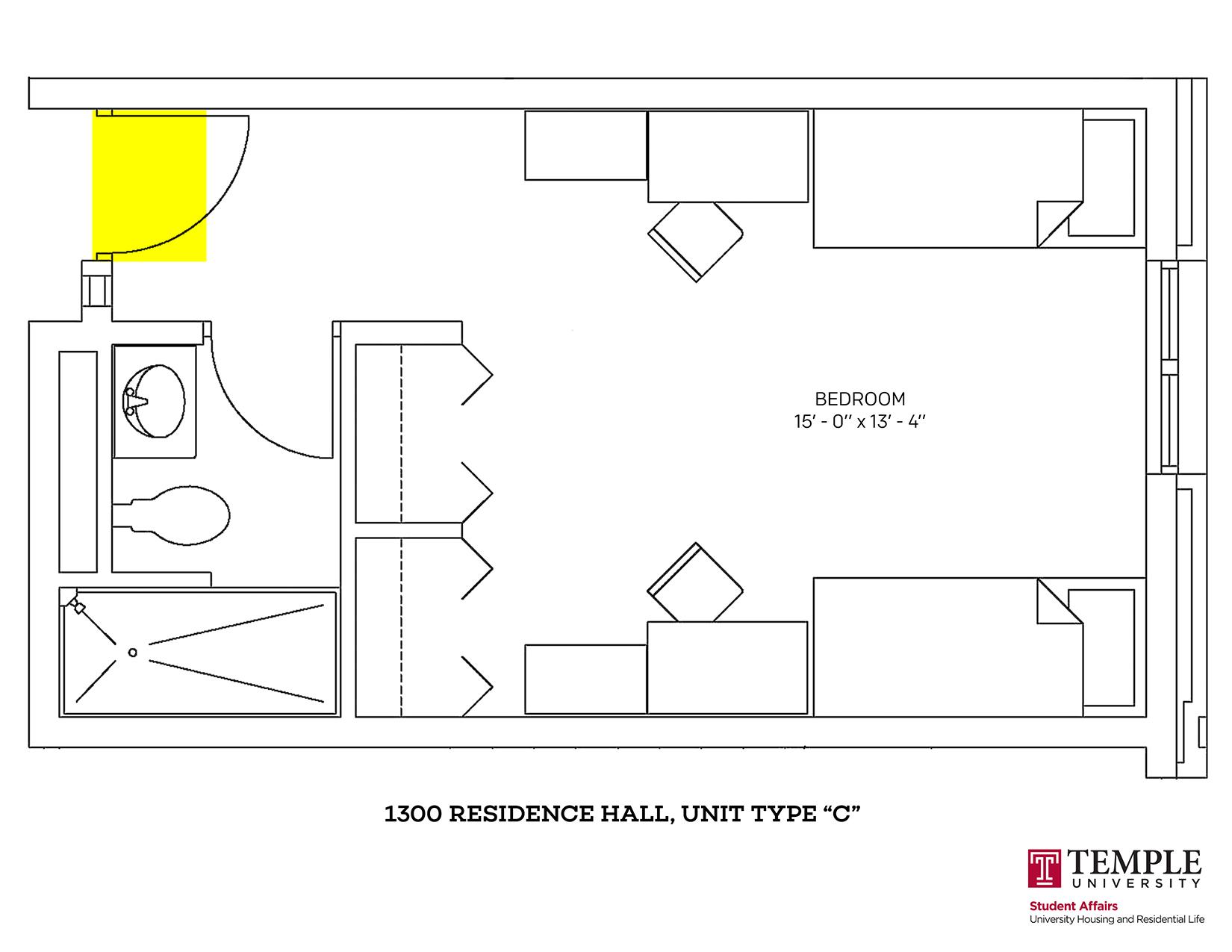 1300 Residence Hall: Unit C