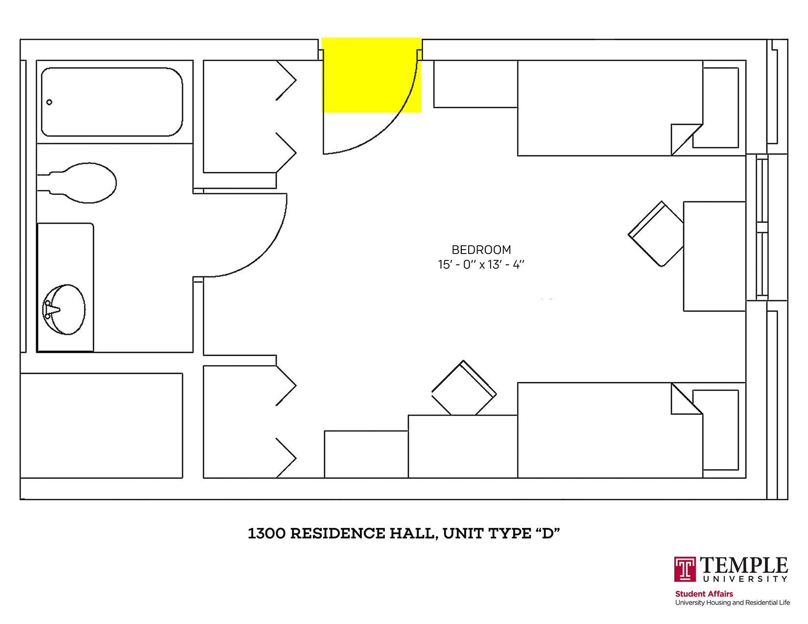 1300 Residence Hall: Unit D