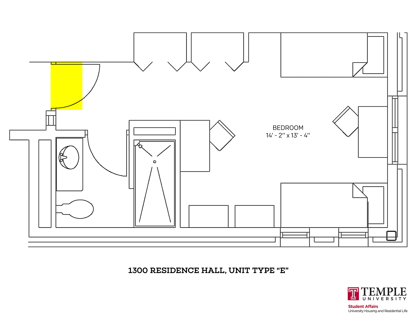 1300 Residence Hall: Unit E