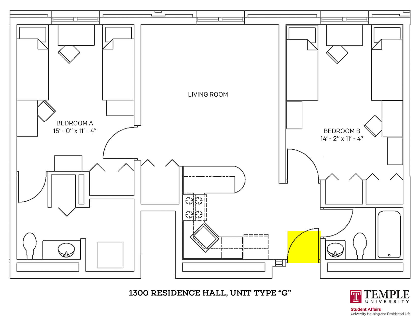 1300 Residence Hall: Unit G