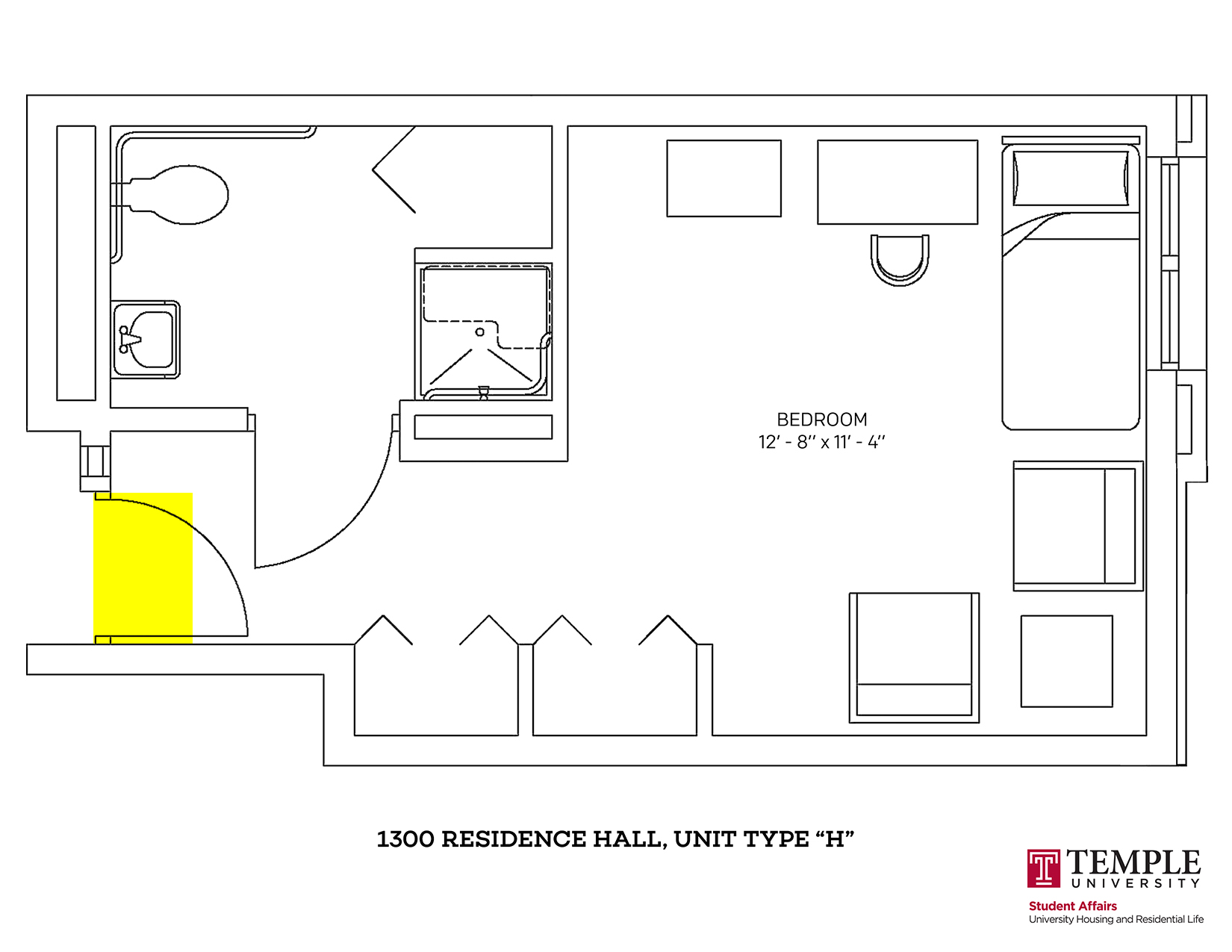 1300 Residence Hall: Unit H