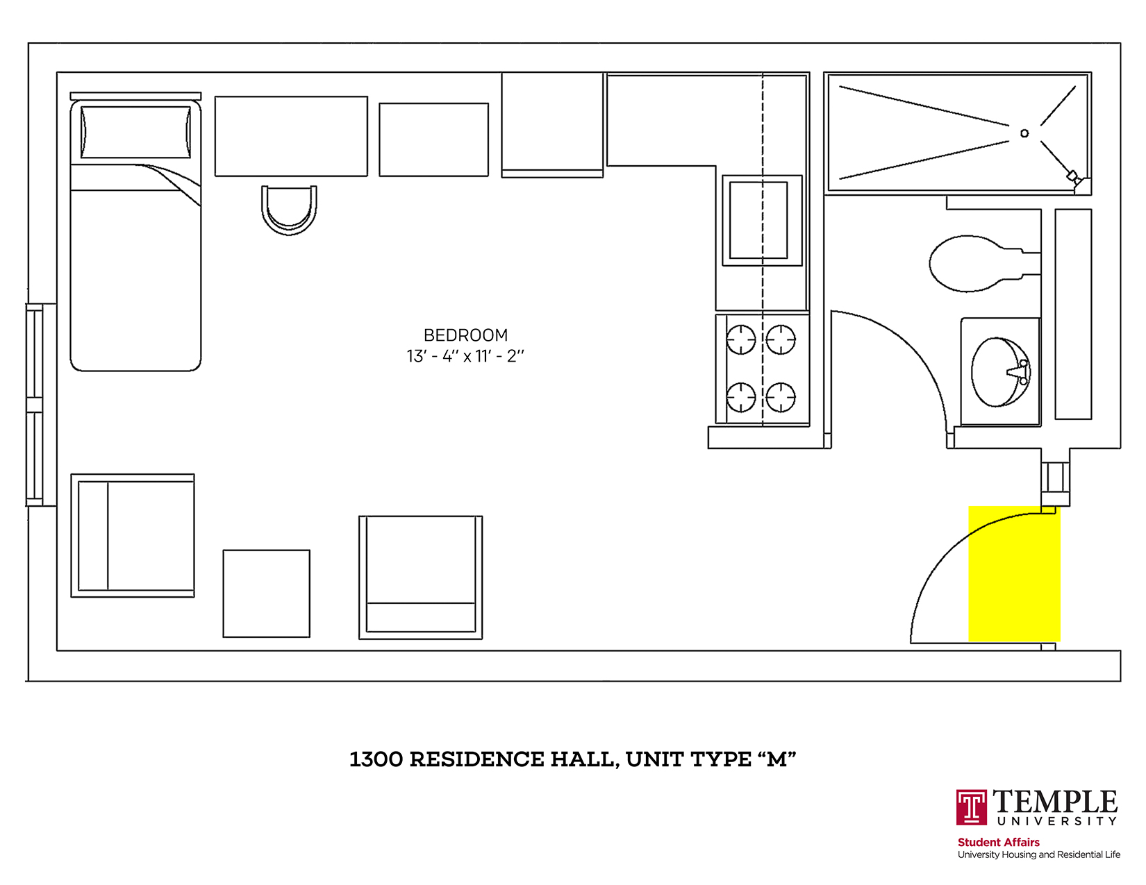 1300 Residence Hall: Unit M