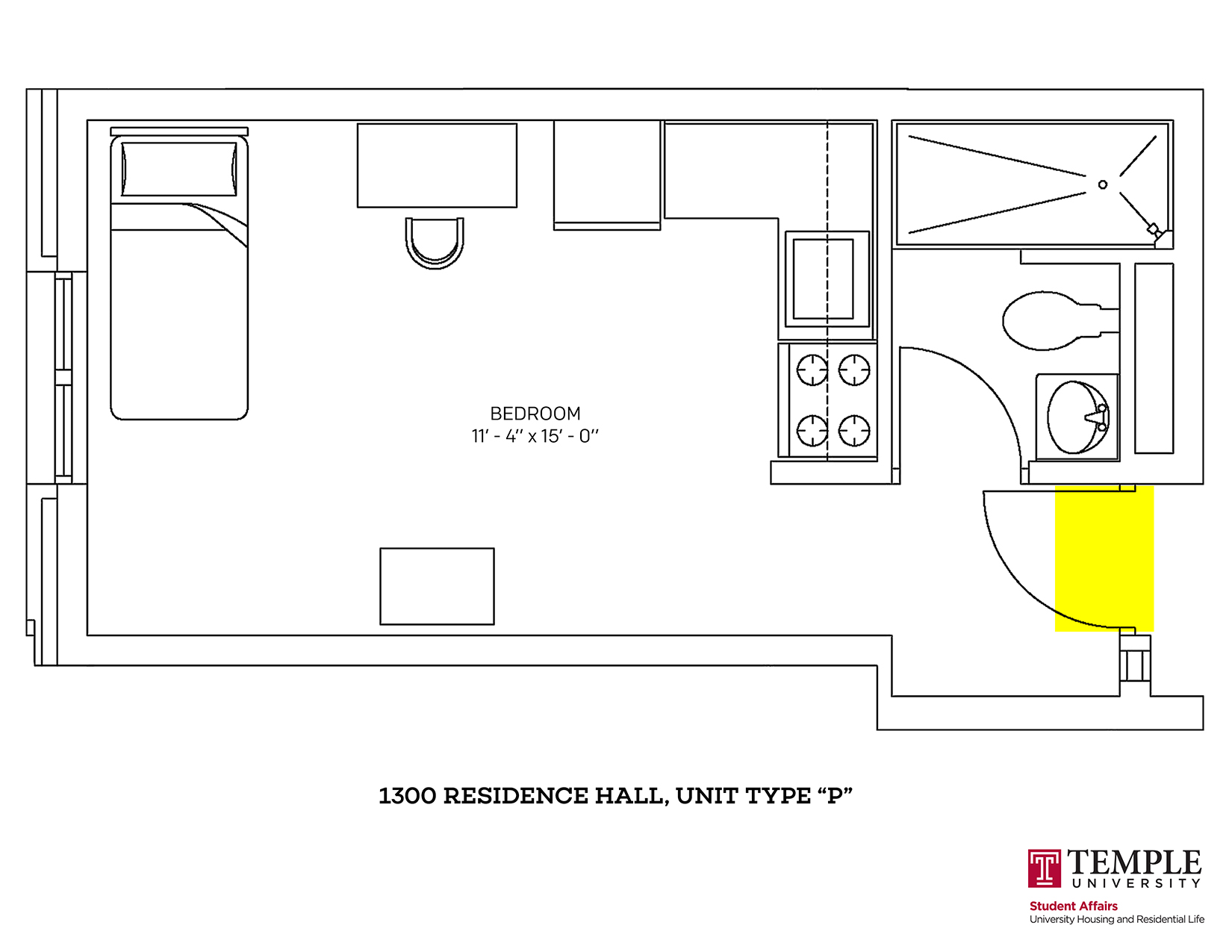 1300 Residence Hall: Unit P