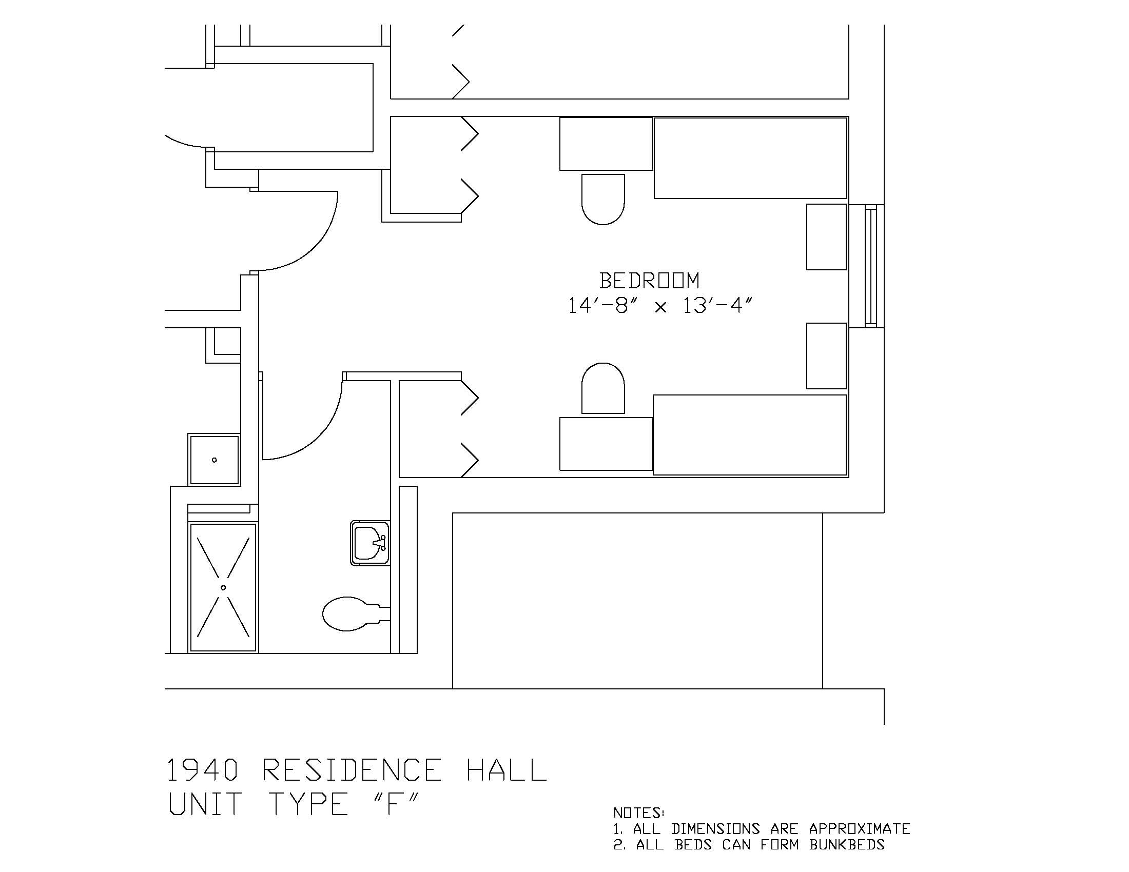 1940 Residence Hall: Type F
