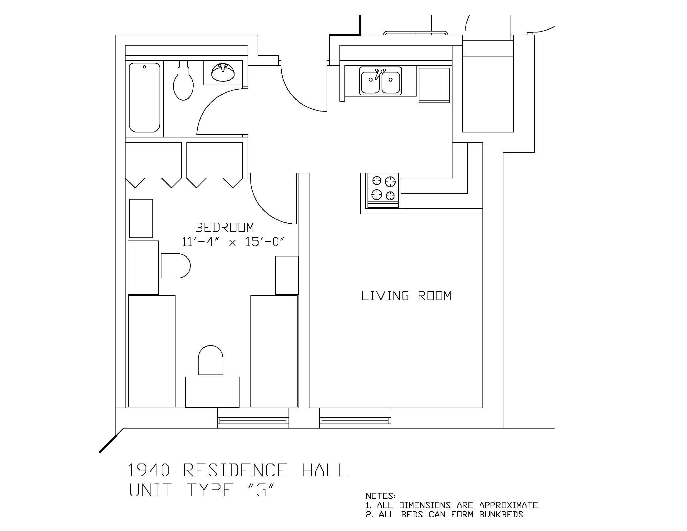 1940 Residence Hall: Type G