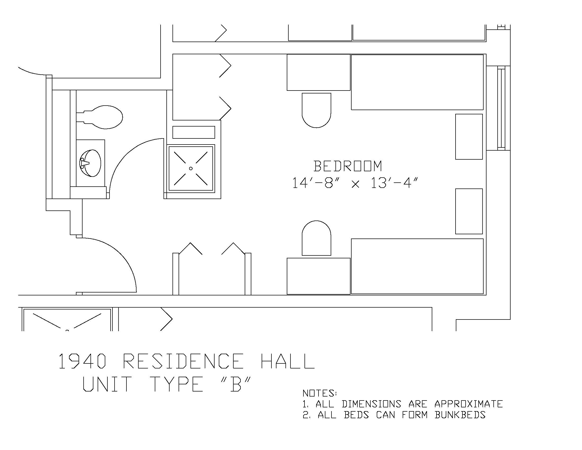 1940 Residence Hall: Type B