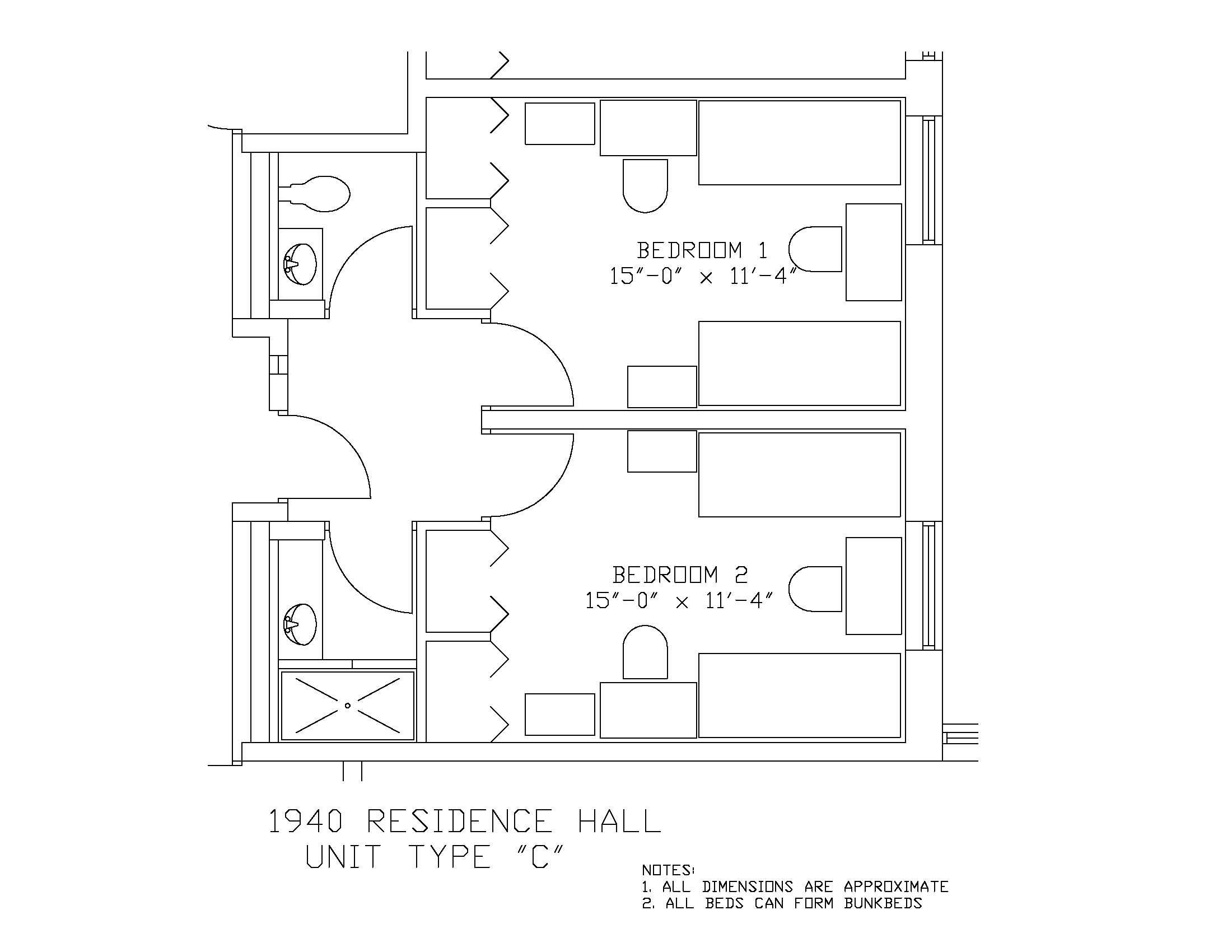 1940 Residence Hall: Type C
