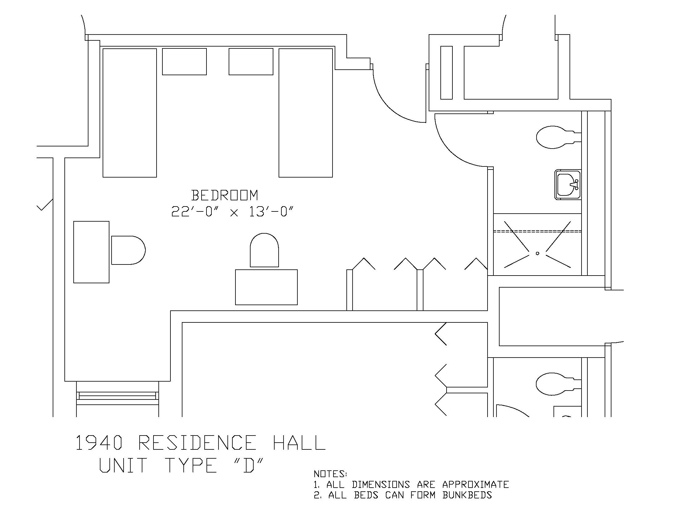 1940 Residence Hall: Type D