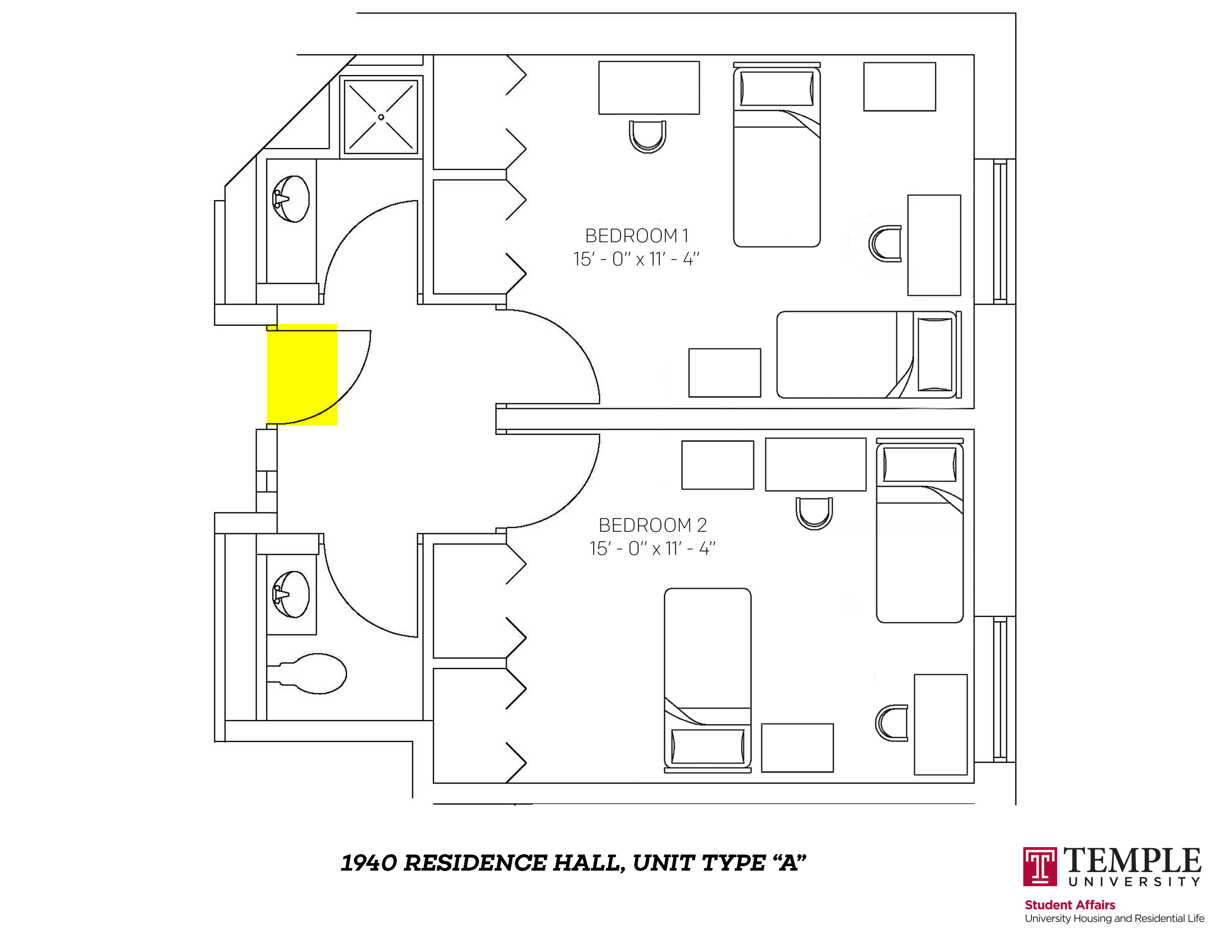 1940 Residence Hall: Unit A