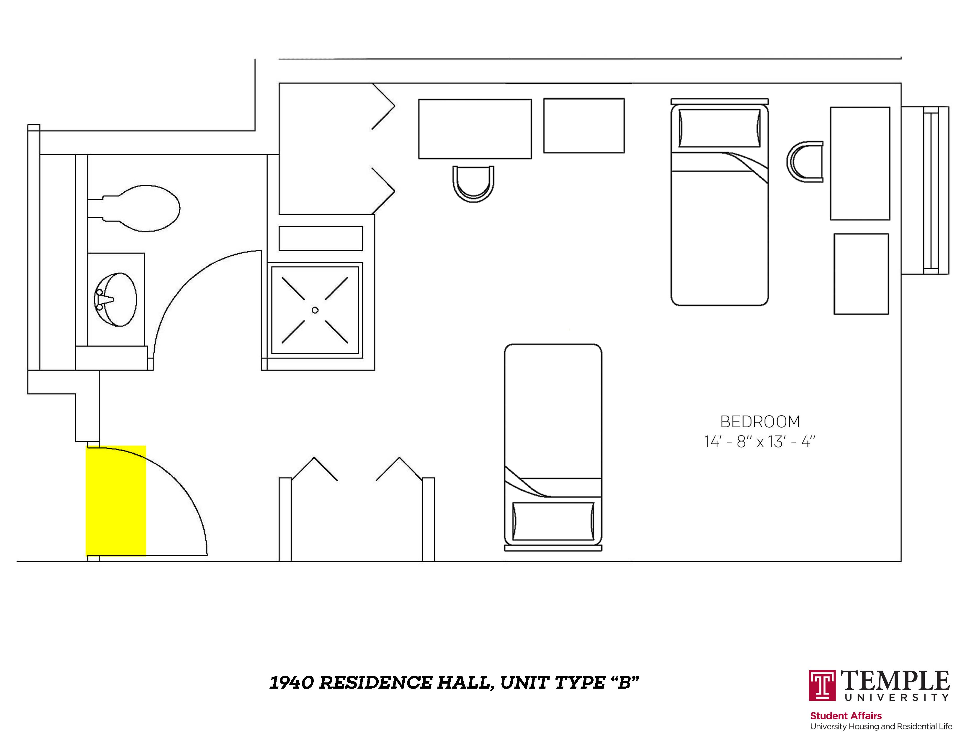 1940 Residence Hall: Unit B