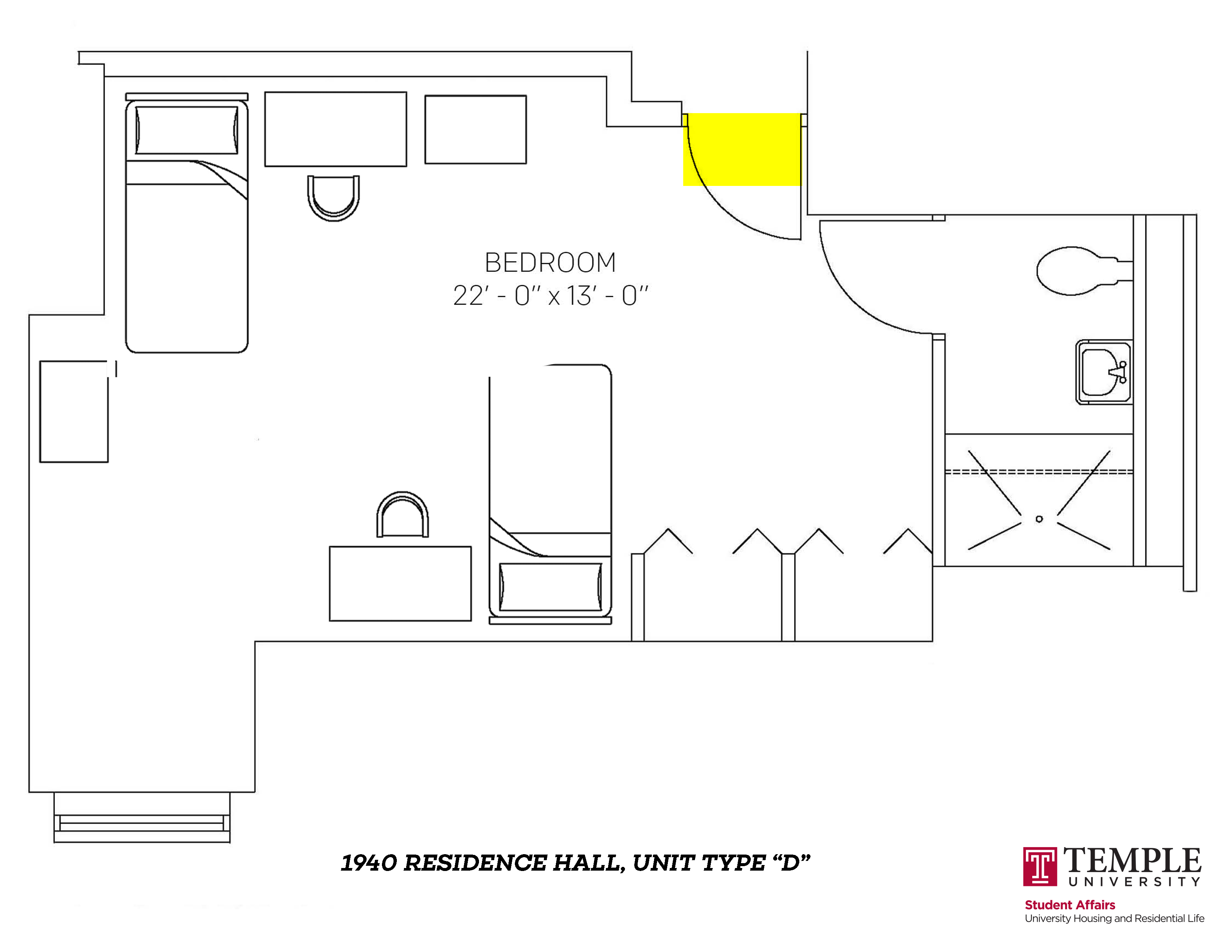 1940 Residence Hall: Unit D