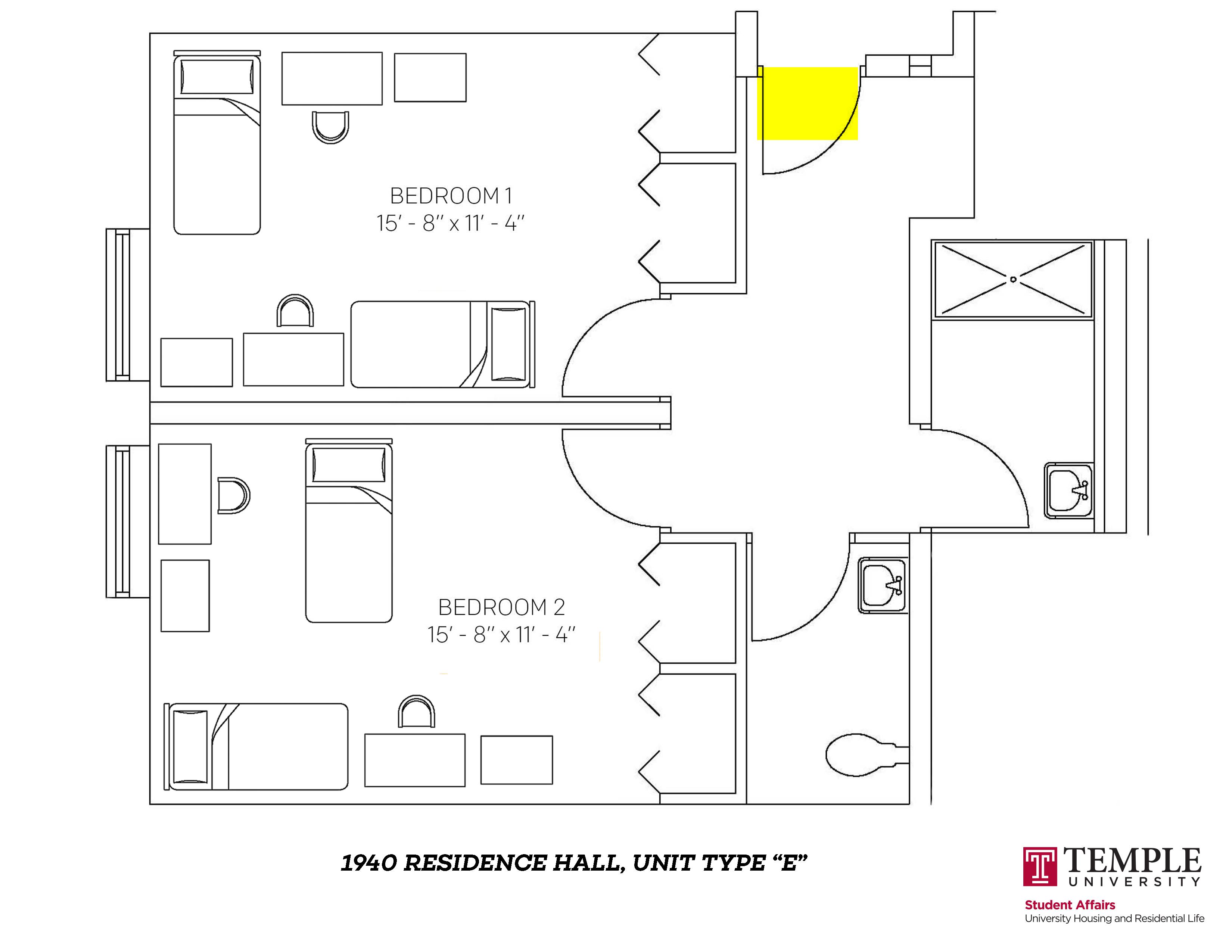 1940 Residence Hall: Unit E