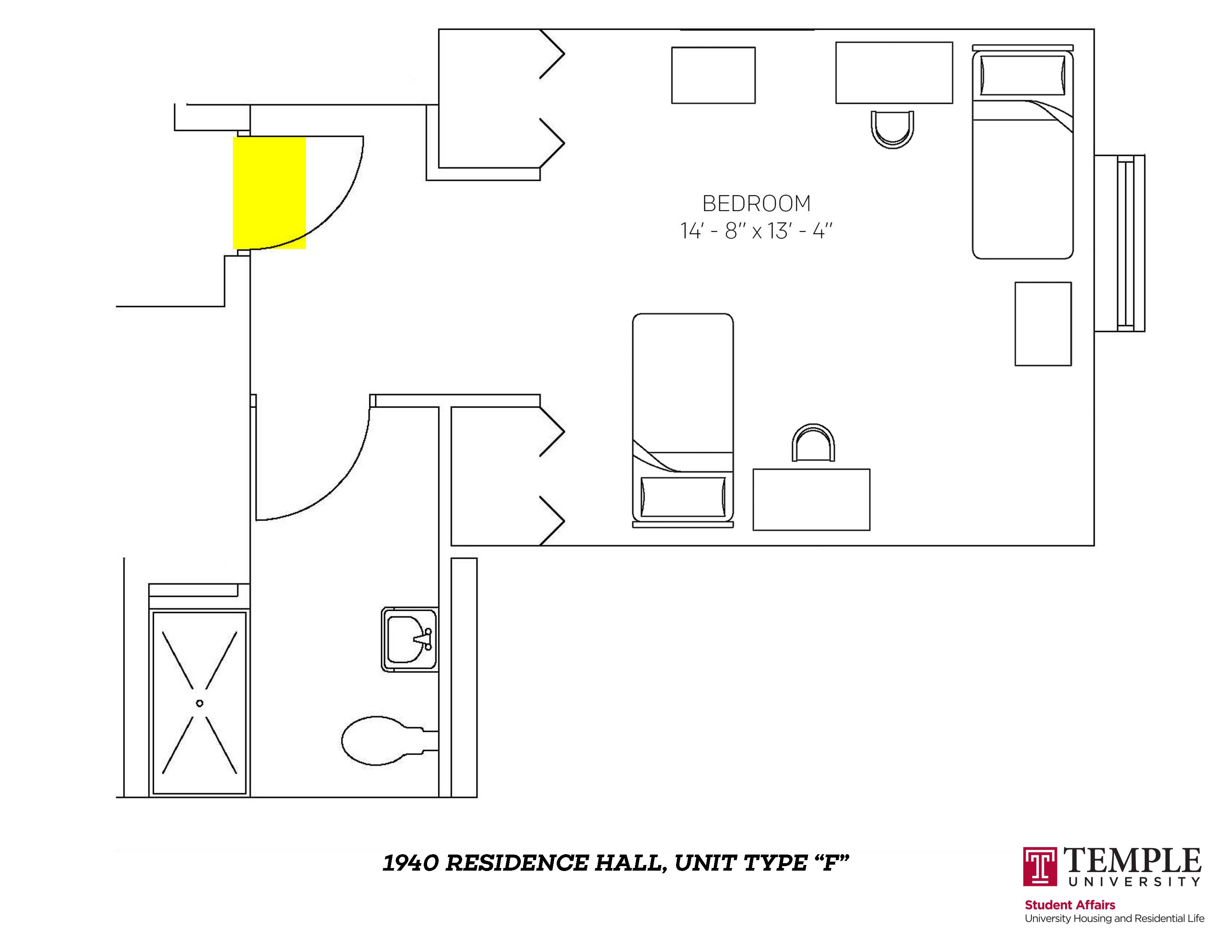 1940 Residence Hall: Unit F