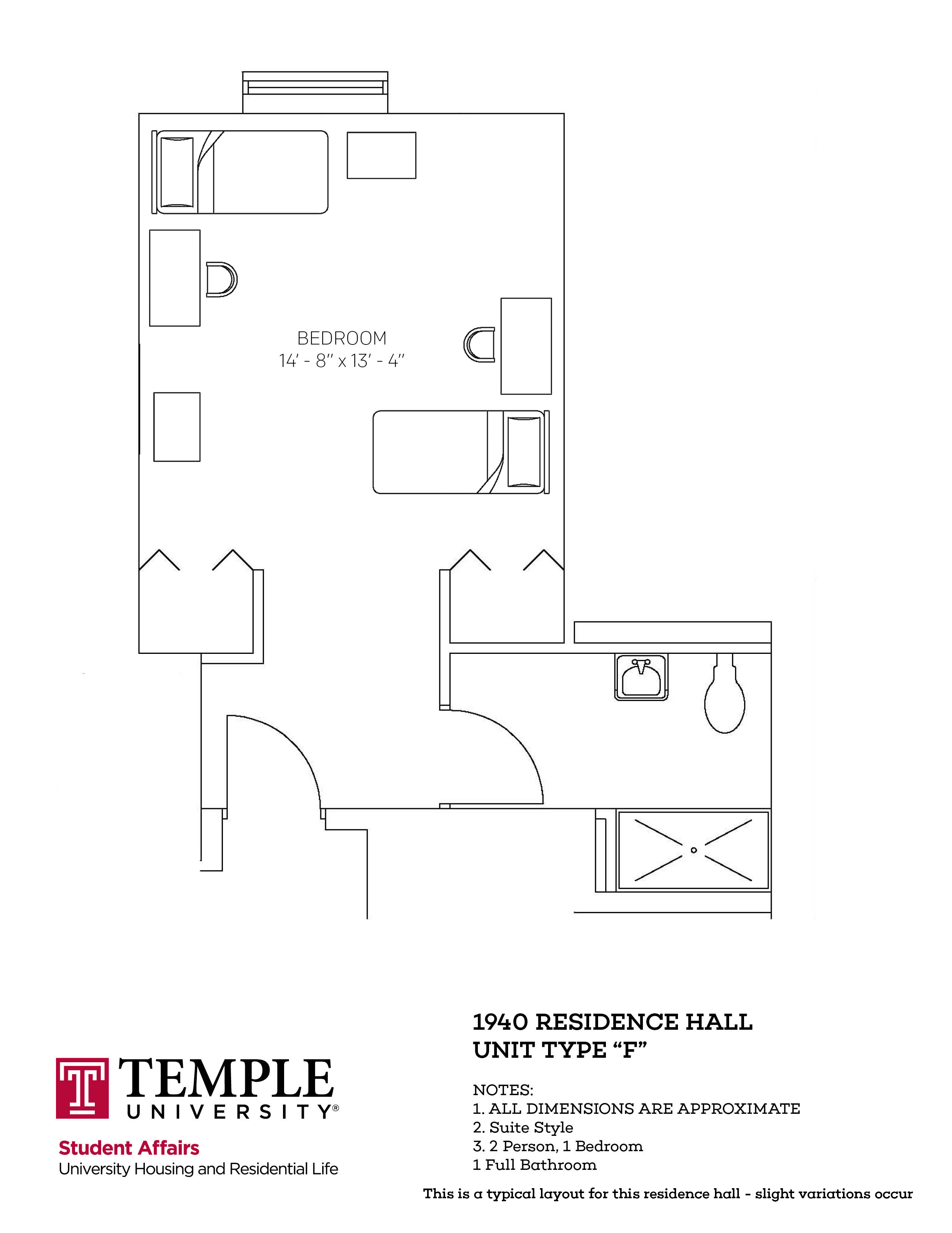 1940 Residence Hall: Type F
