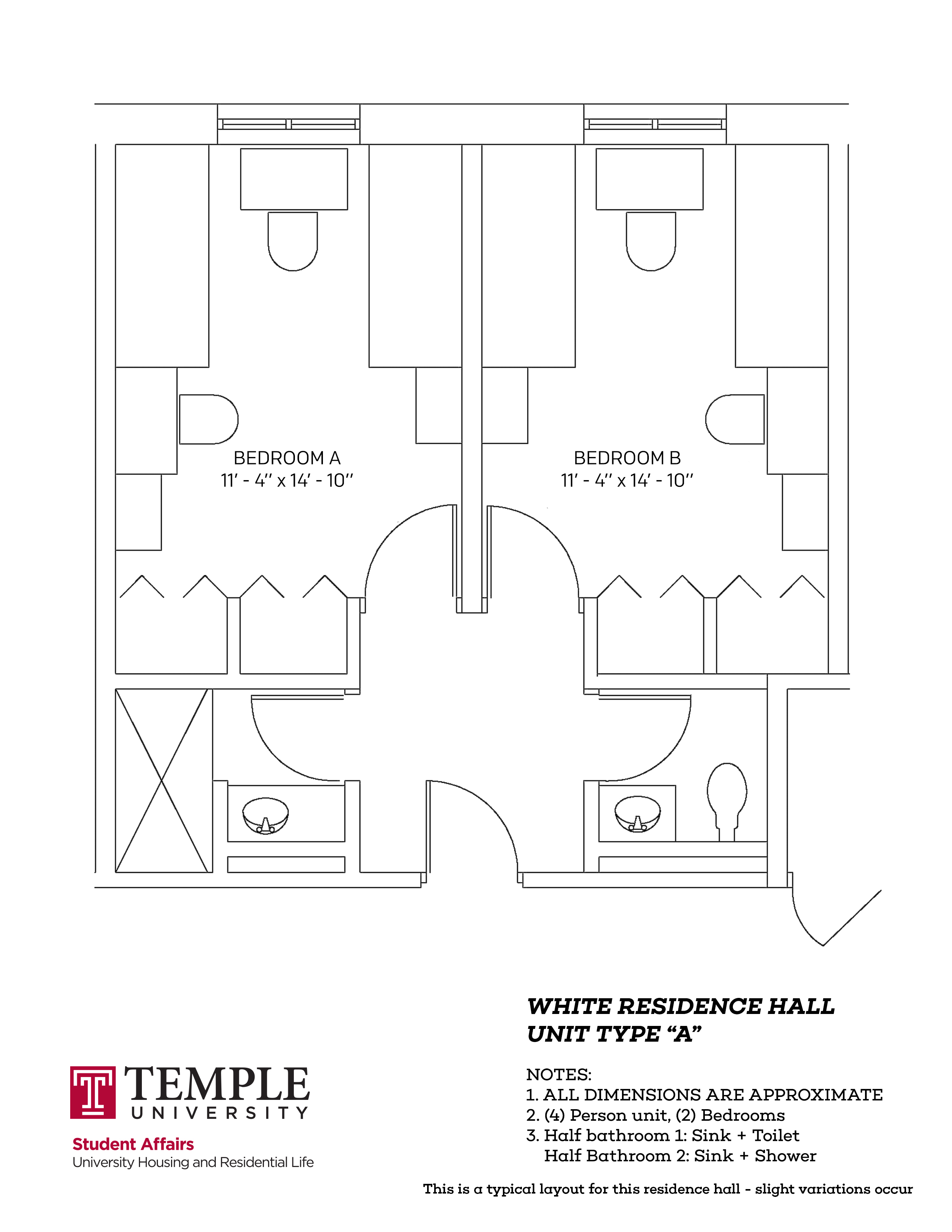 James S. White Hall: Type A