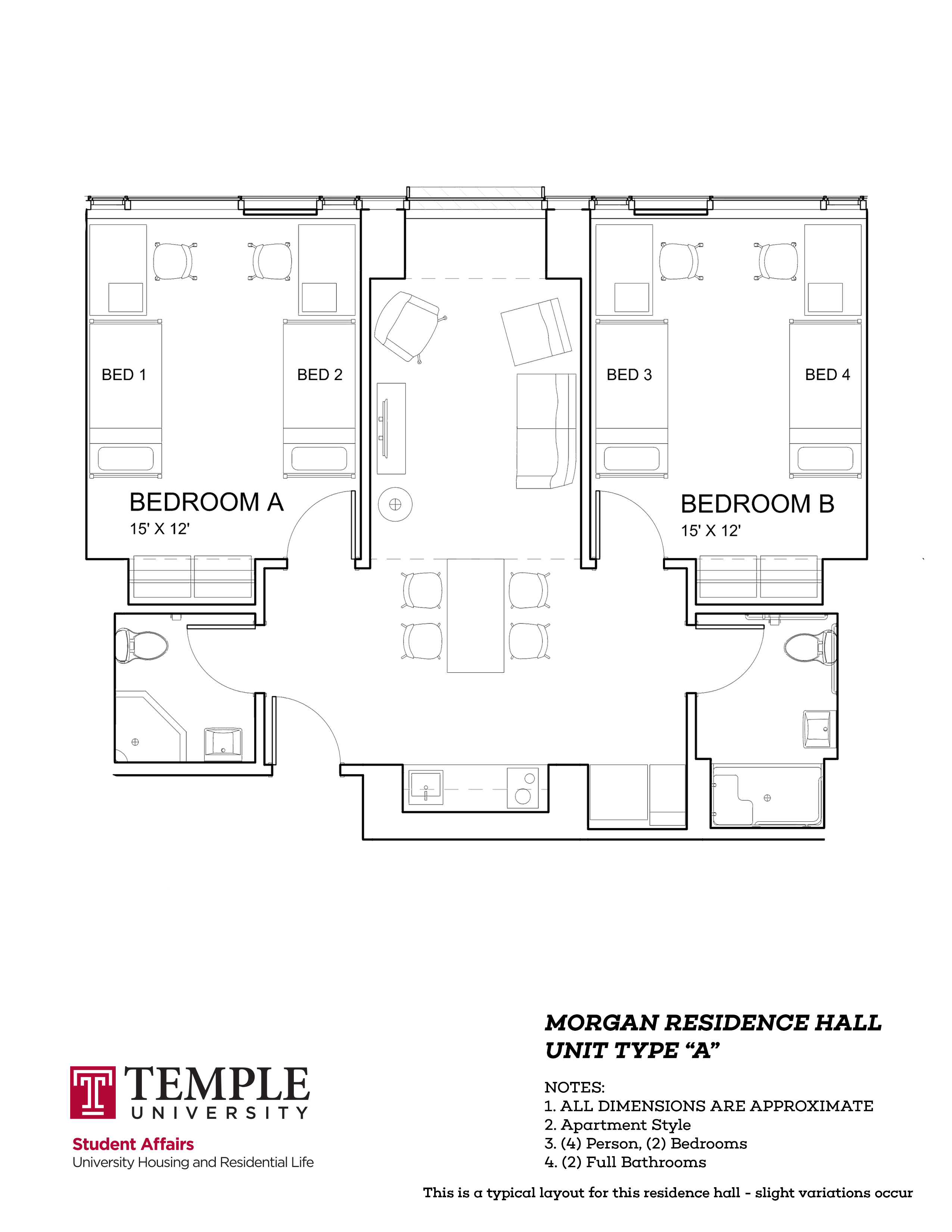 Morgan hall university housing and residential life for Floor plan services