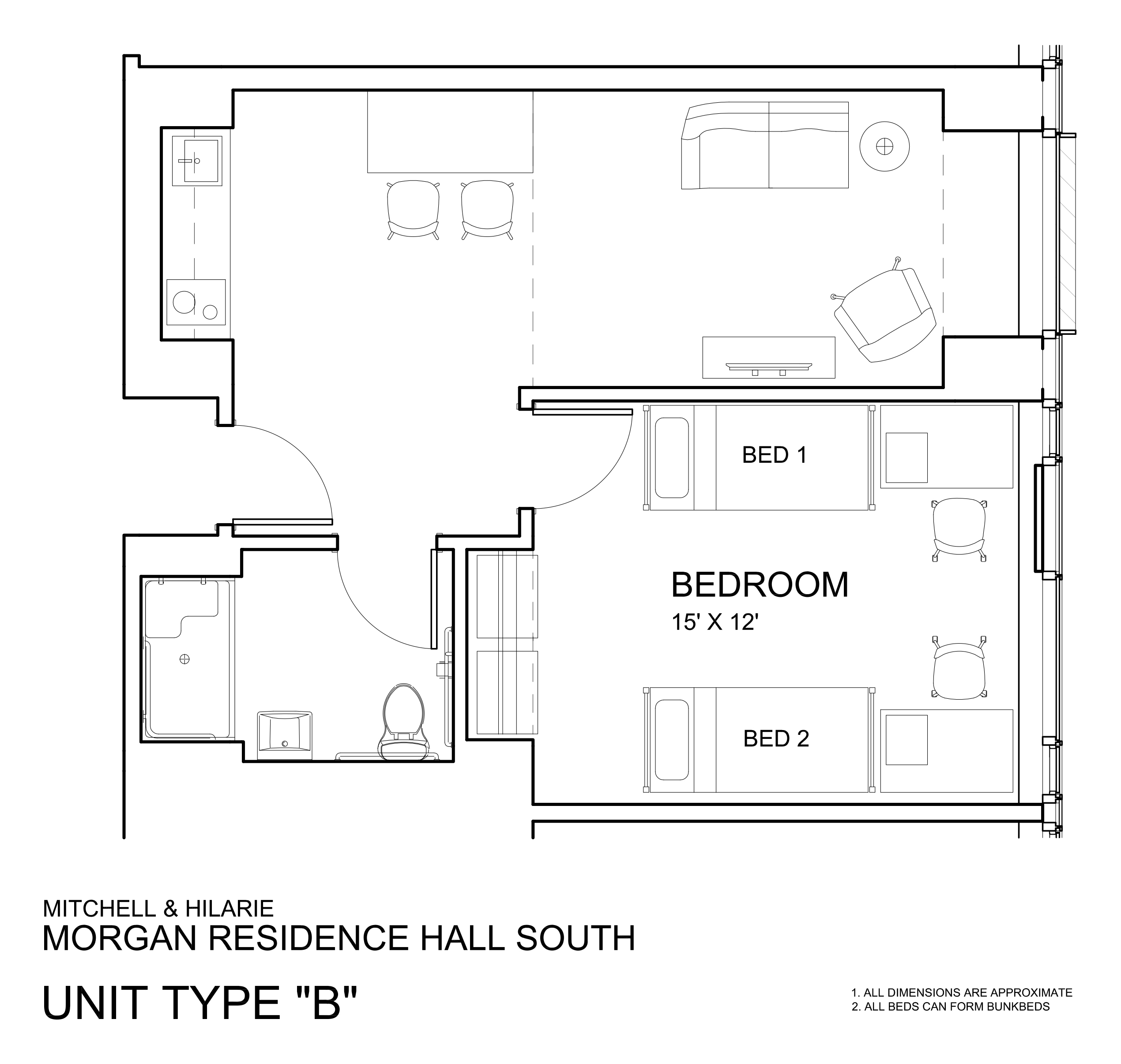 Bathroom Layout Types morgan hall | university housing and residential life