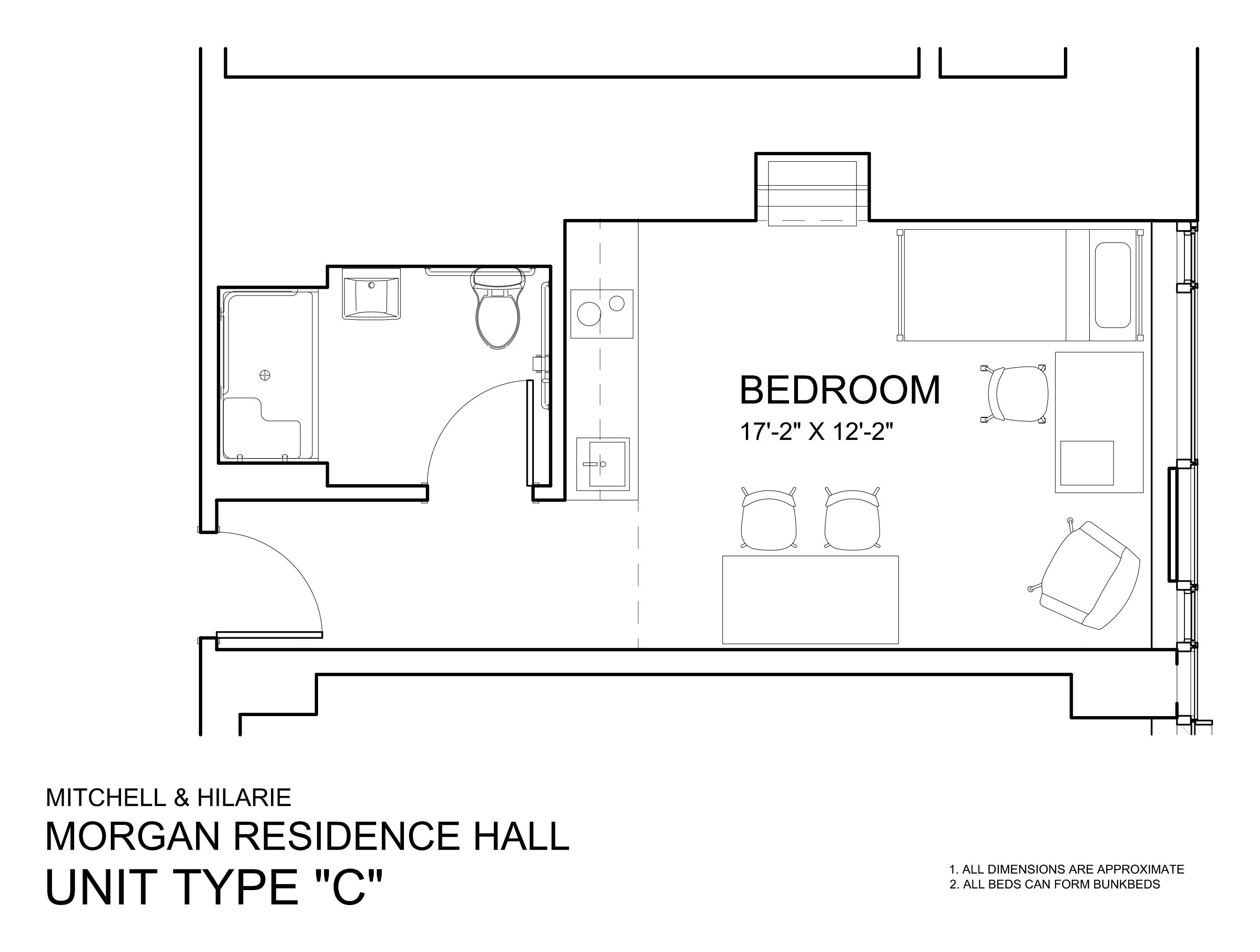 Morgan Hall South: Type  C
