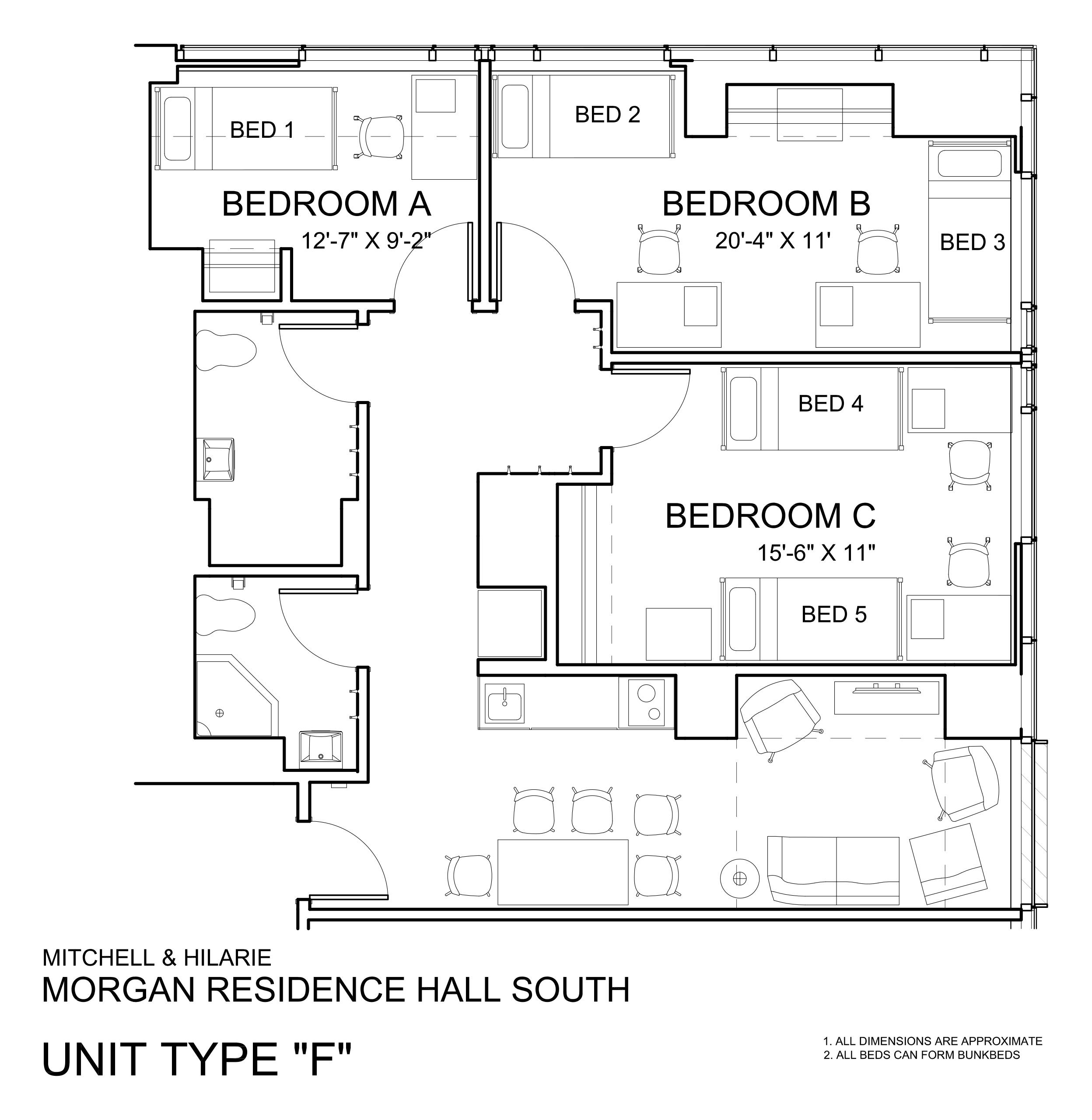 Morgan Hall South: Type F