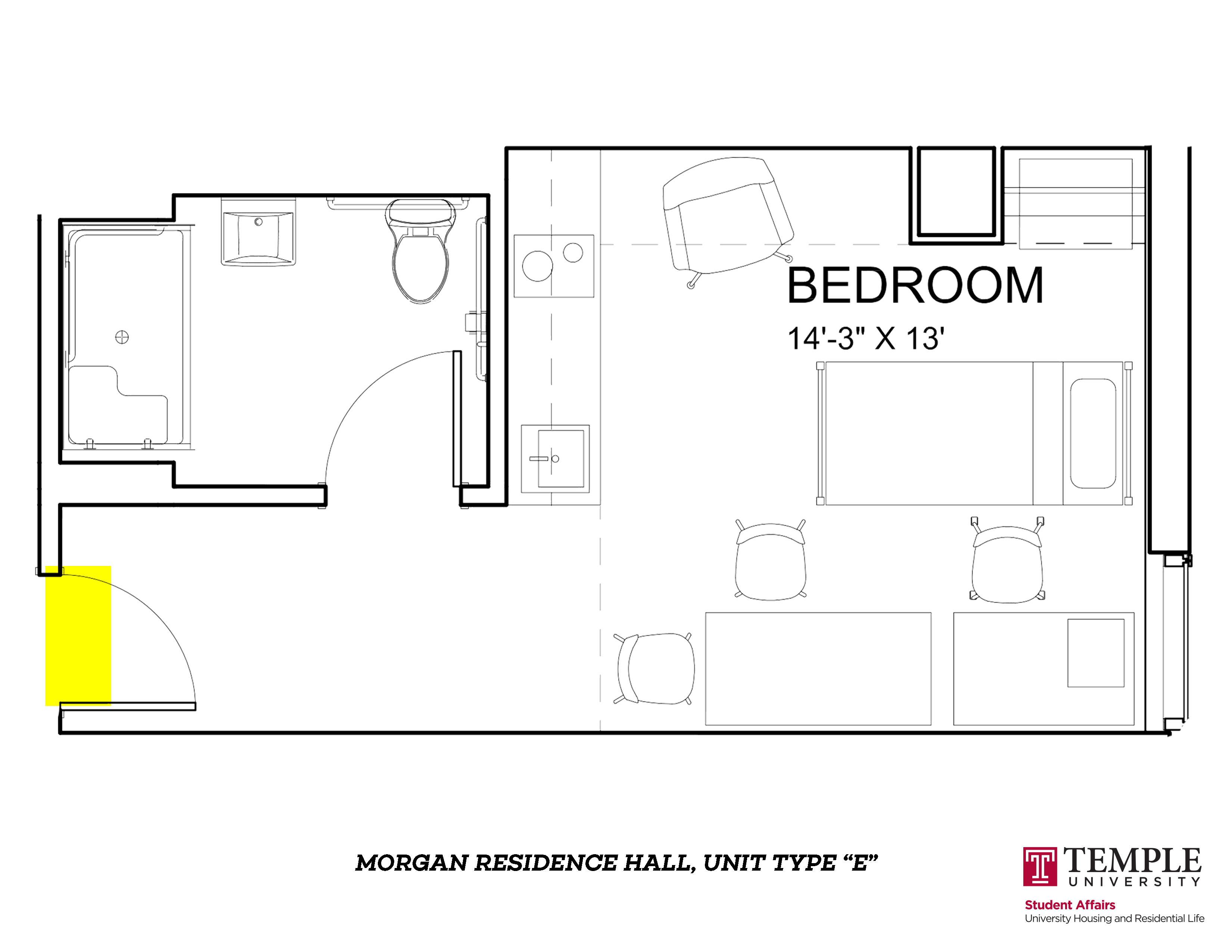 Morgan Hall North: Unit E