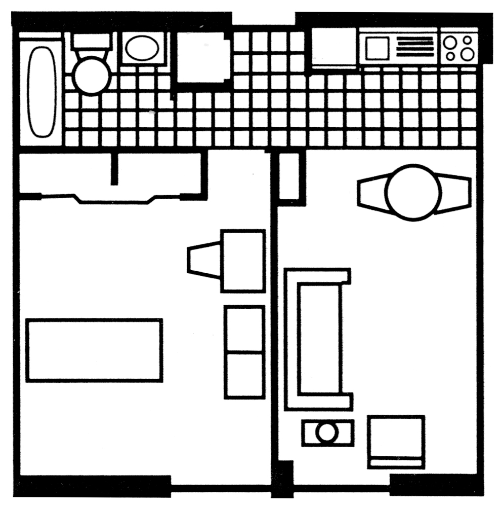 Individual One-Bedroom Apartment: Type