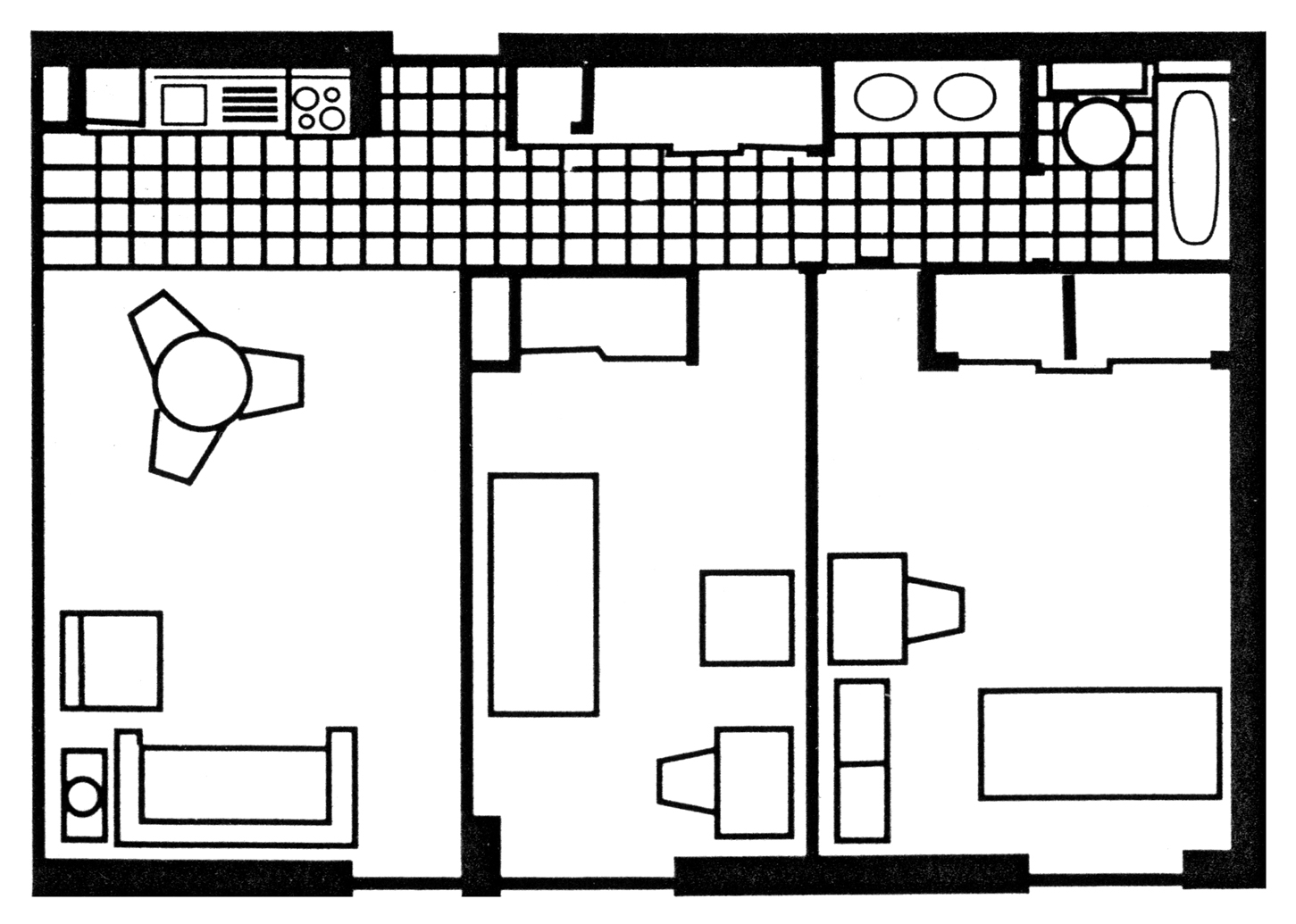 Two-Bedroom Apartment: