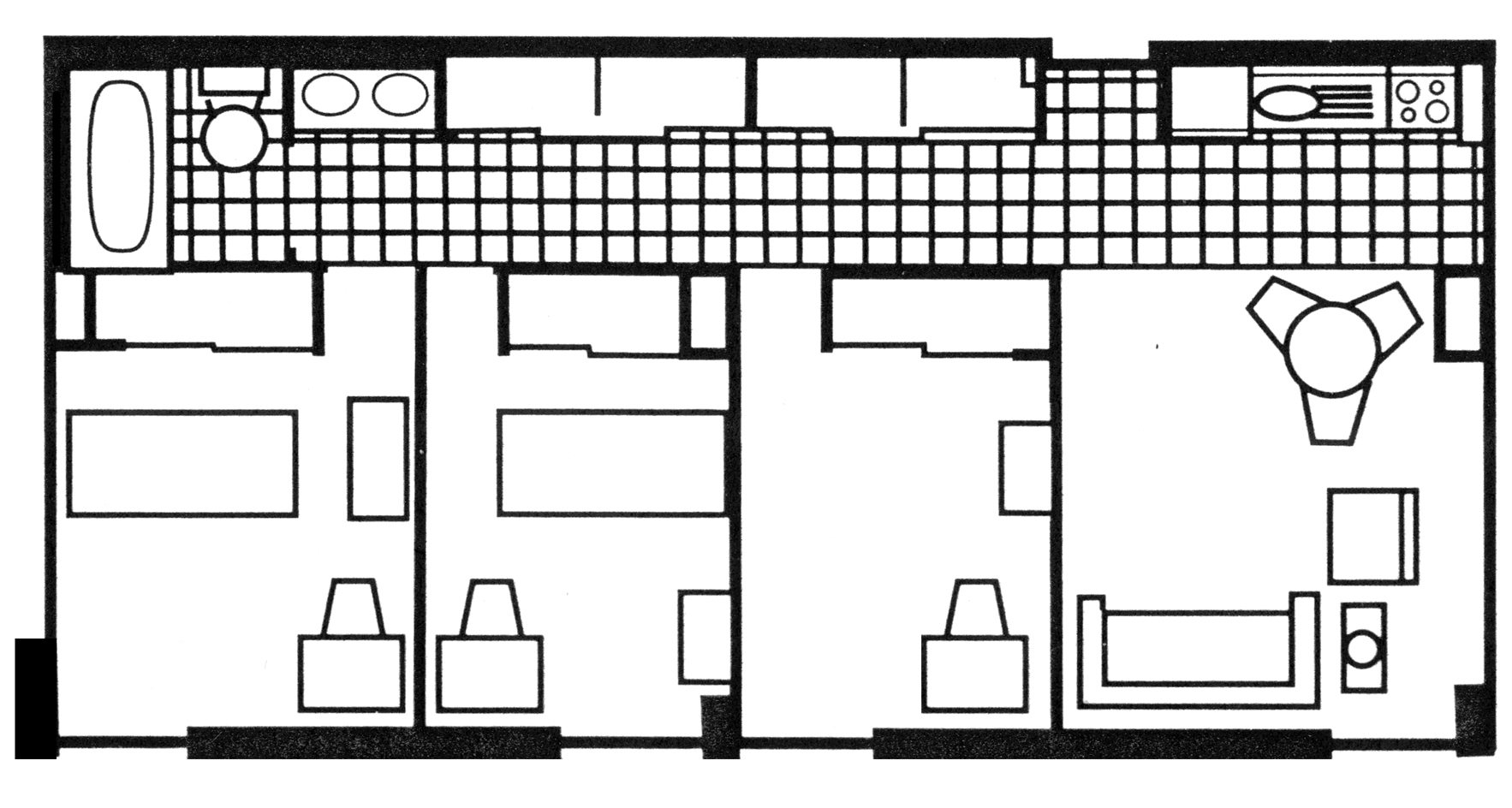 Three-Bedroom Apartment: Type