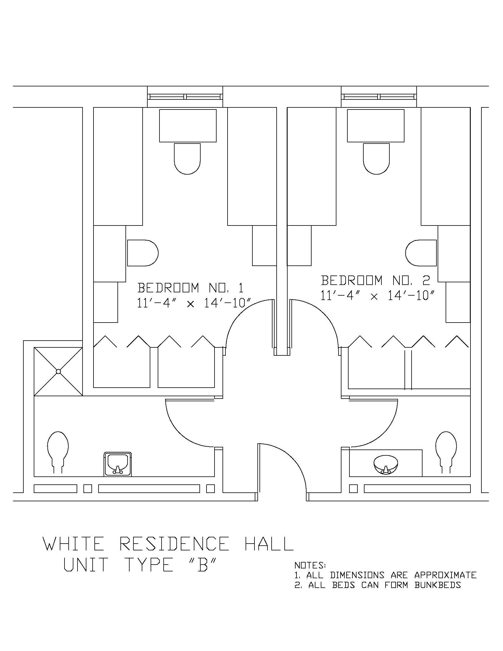 James S. White Hall: Type B