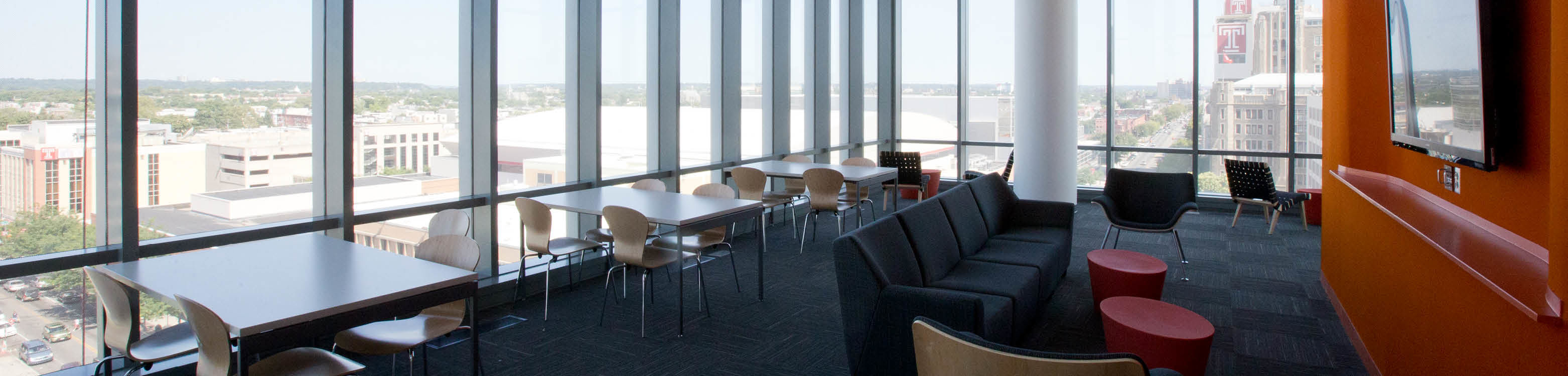 View of a Morgan Lounge w/ Philly skyline