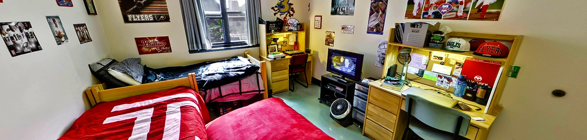 Dorm Room inside 1300 Residence Hall